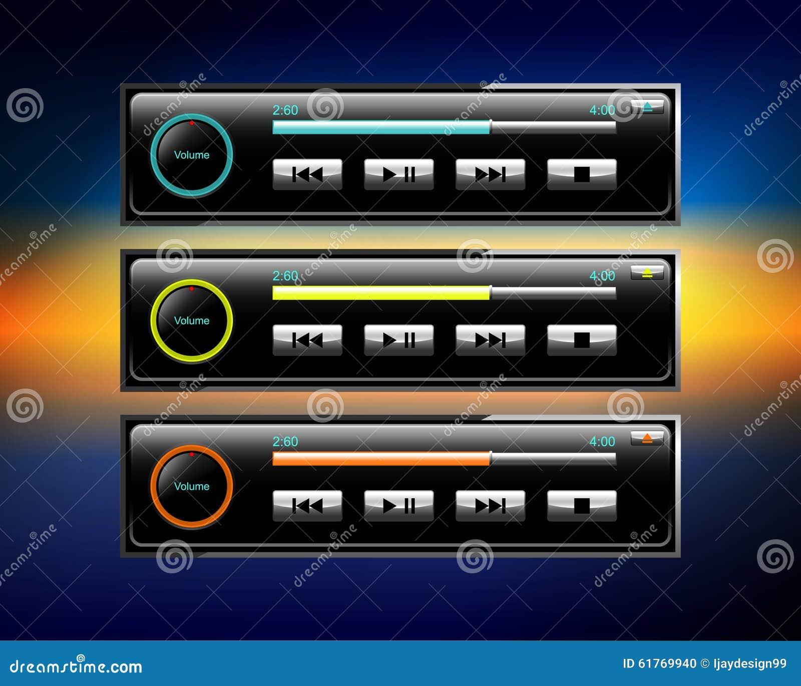 ic nes d 39 audio de voiture illustration de vecteur image 61769940. Black Bedroom Furniture Sets. Home Design Ideas