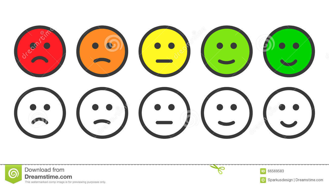 Ic nes d 39 emoji pour le taux de niveau de satisfaction illustration de vec - Smiley simple noir et blanc ...