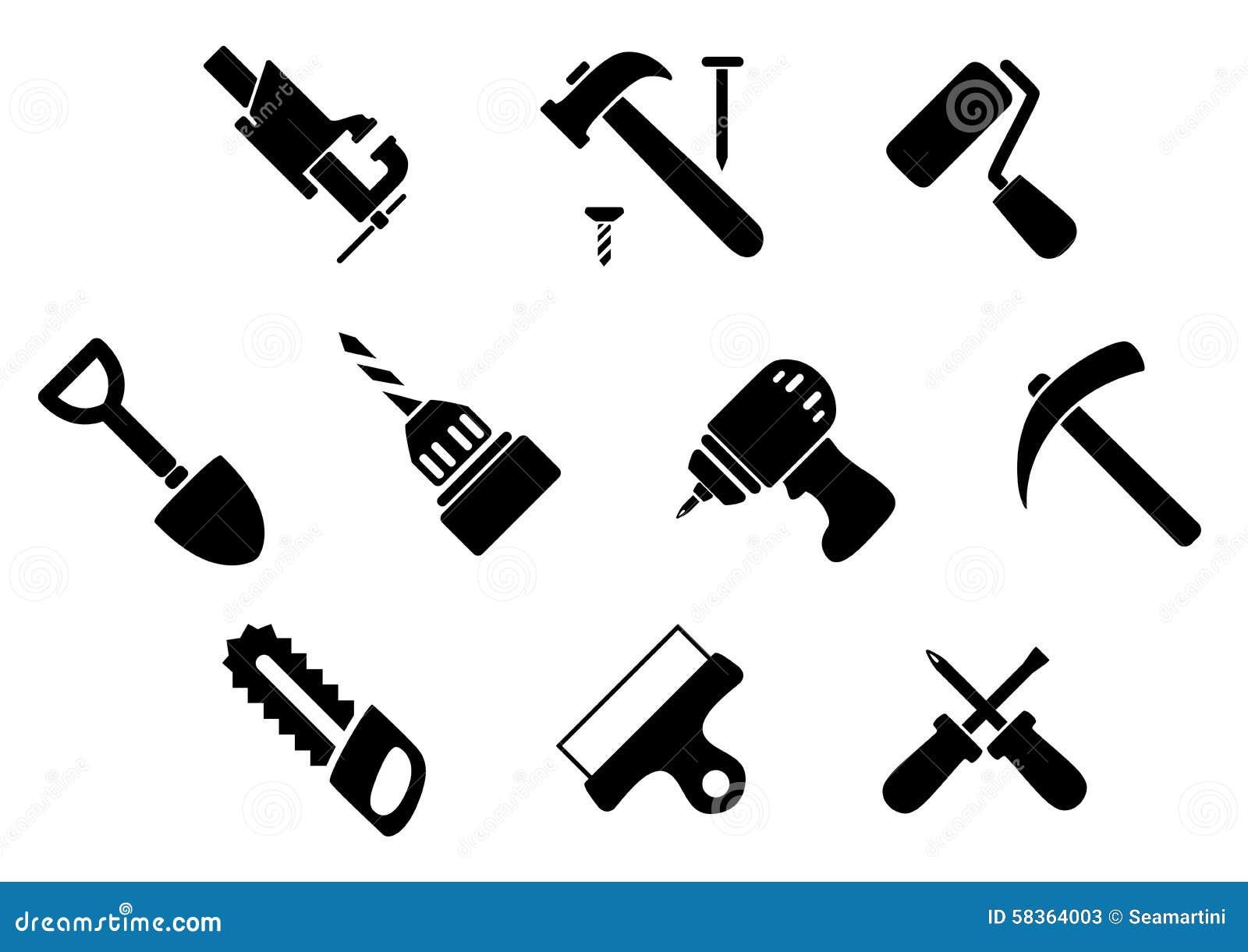 ic nes d 39 outils de bricolage et d 39 instruments illustration de vecteur illustration du. Black Bedroom Furniture Sets. Home Design Ideas