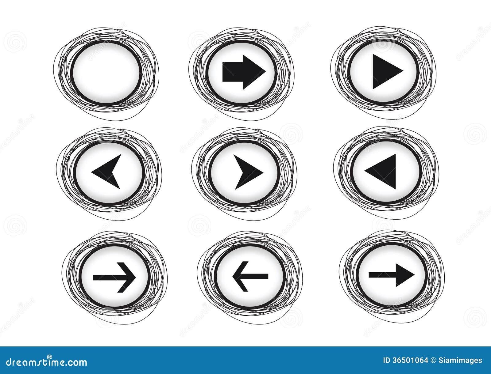 Icônes de flèche pour le Web