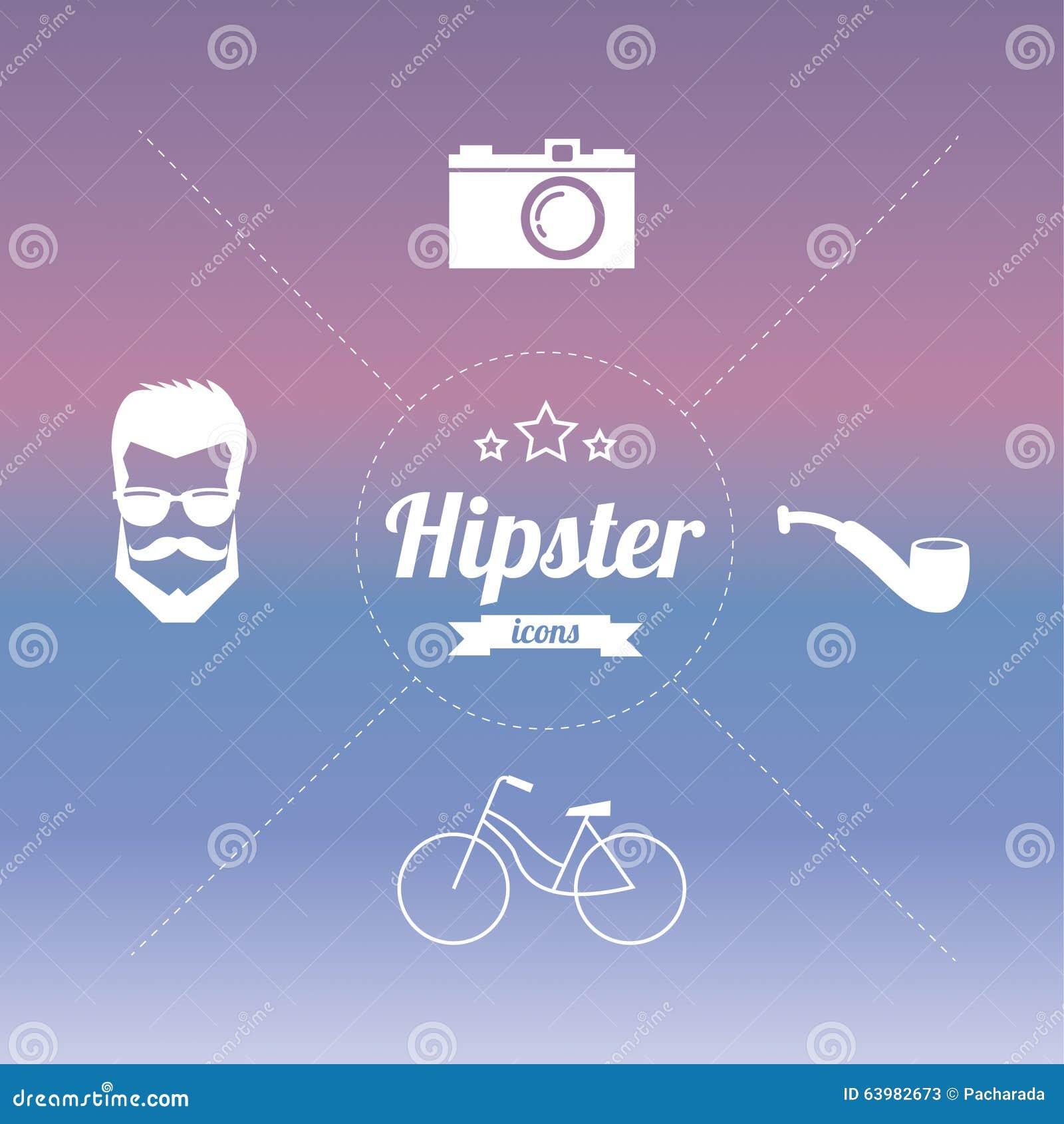 Icônes de hippie de conception dénommées par vintage