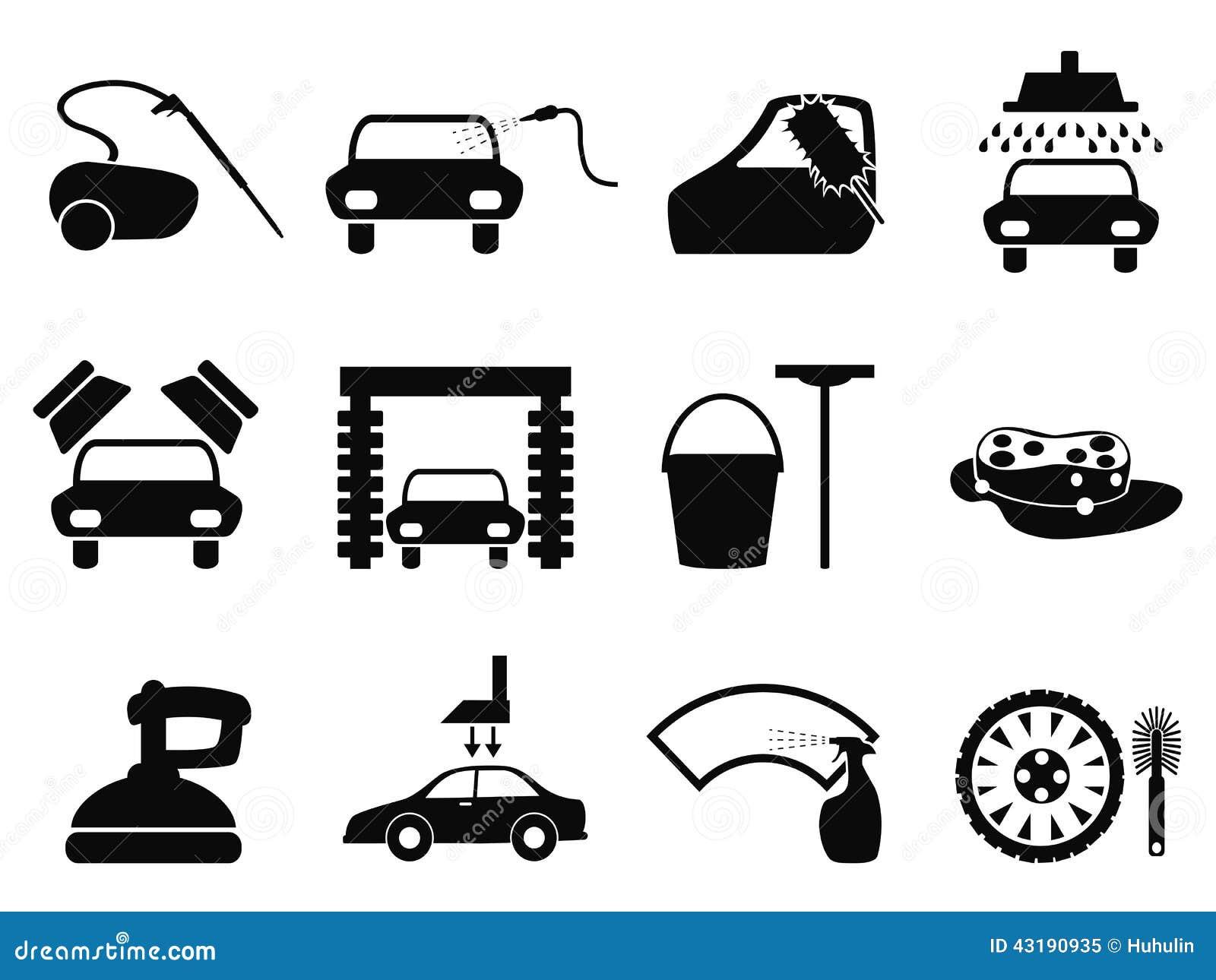 ic nes de lavage de voiture r gl es illustration de vecteur image 43190935. Black Bedroom Furniture Sets. Home Design Ideas