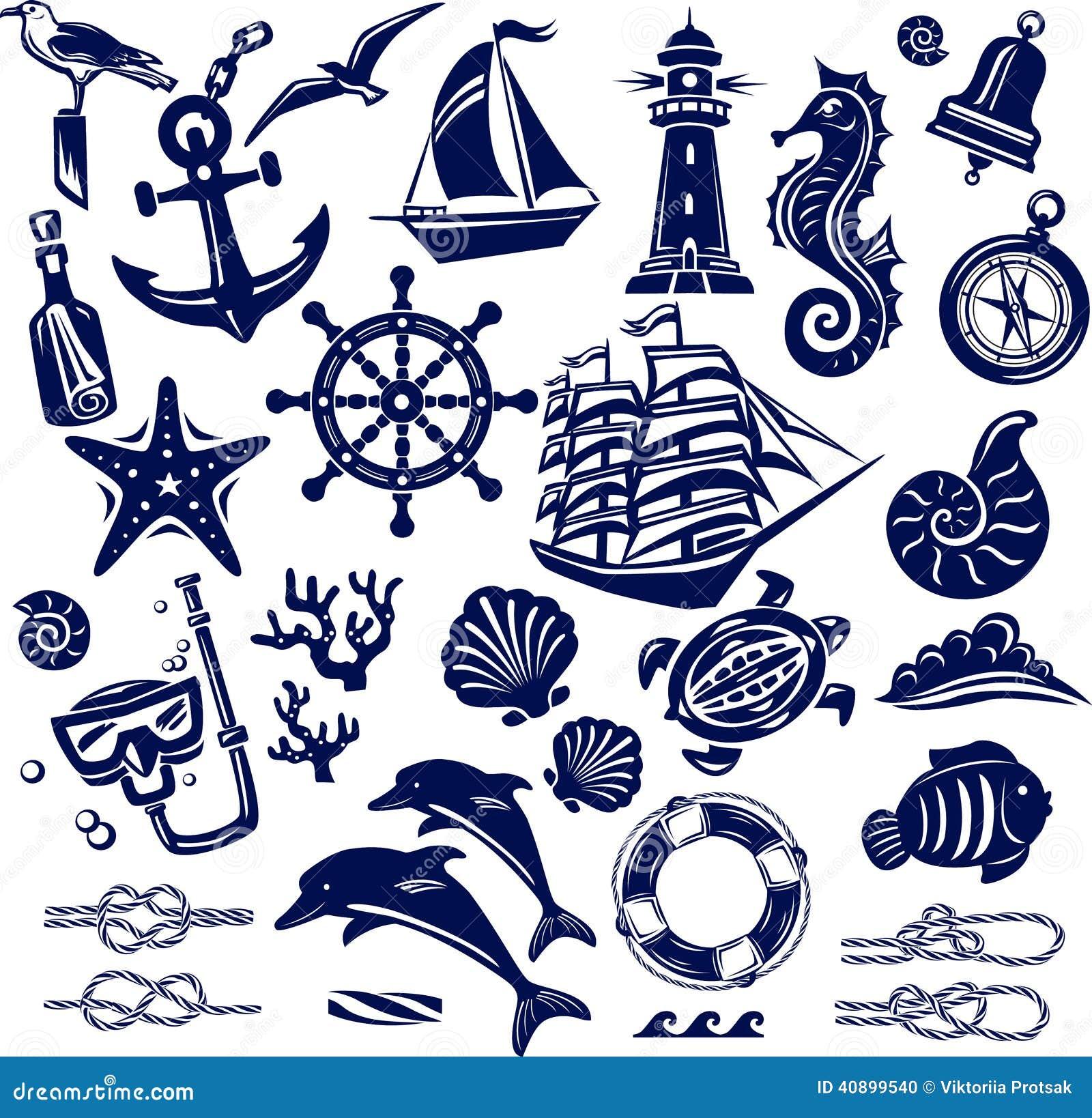 Icônes de mer d été