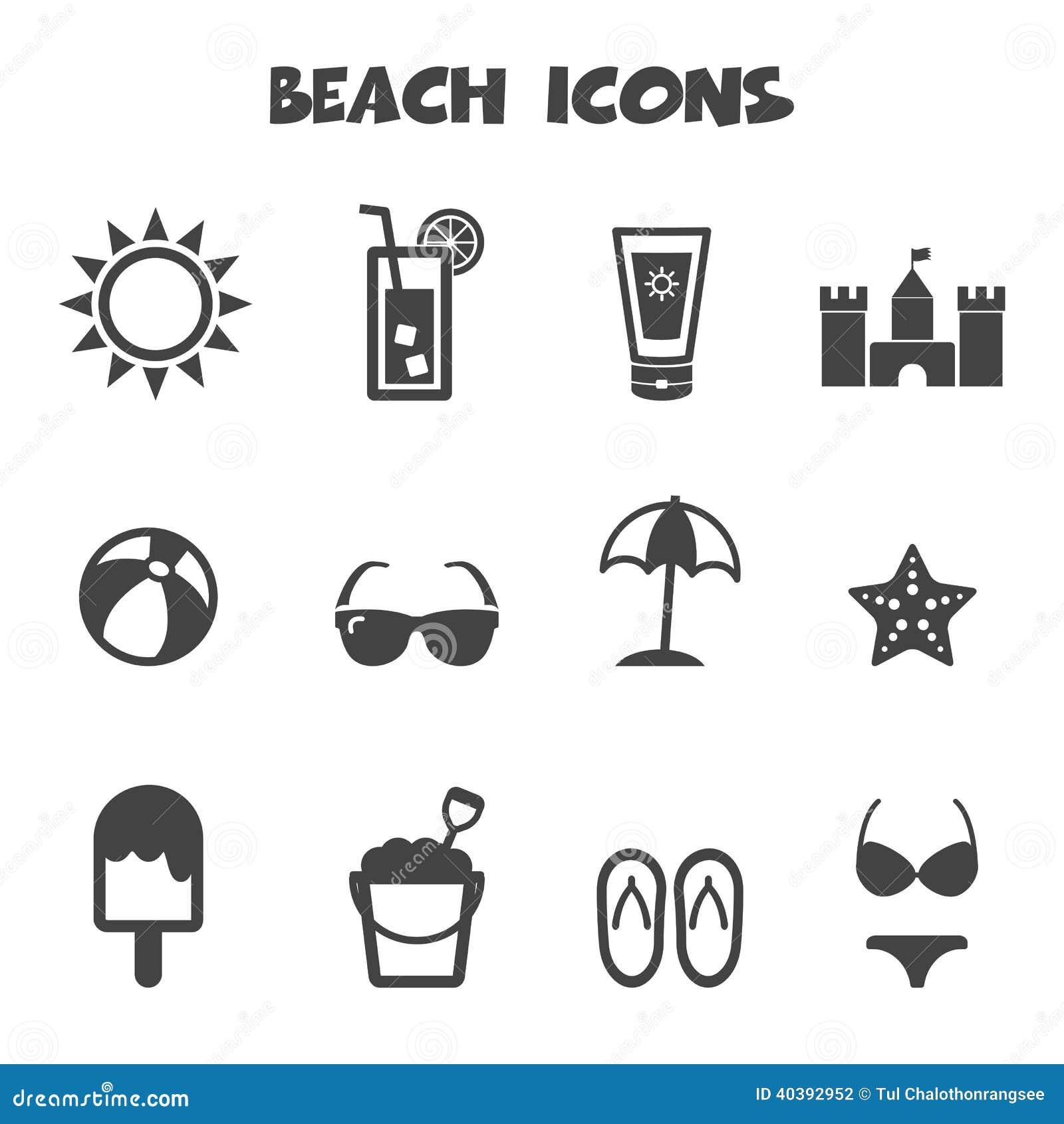 Icônes de plage