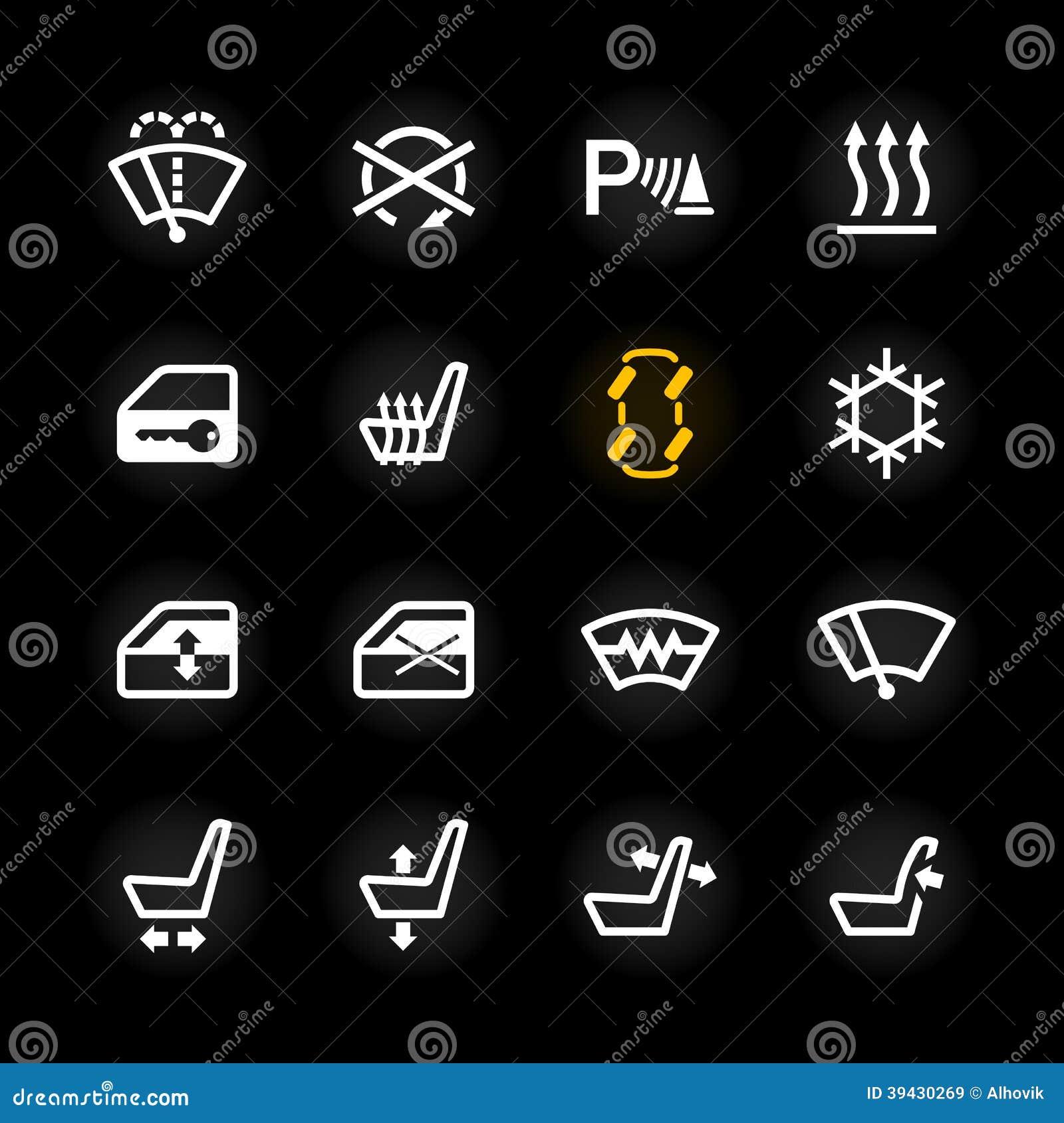 Icônes De Tableau De Bord De Voiture Illustration de Vecteur - Image: 39430269