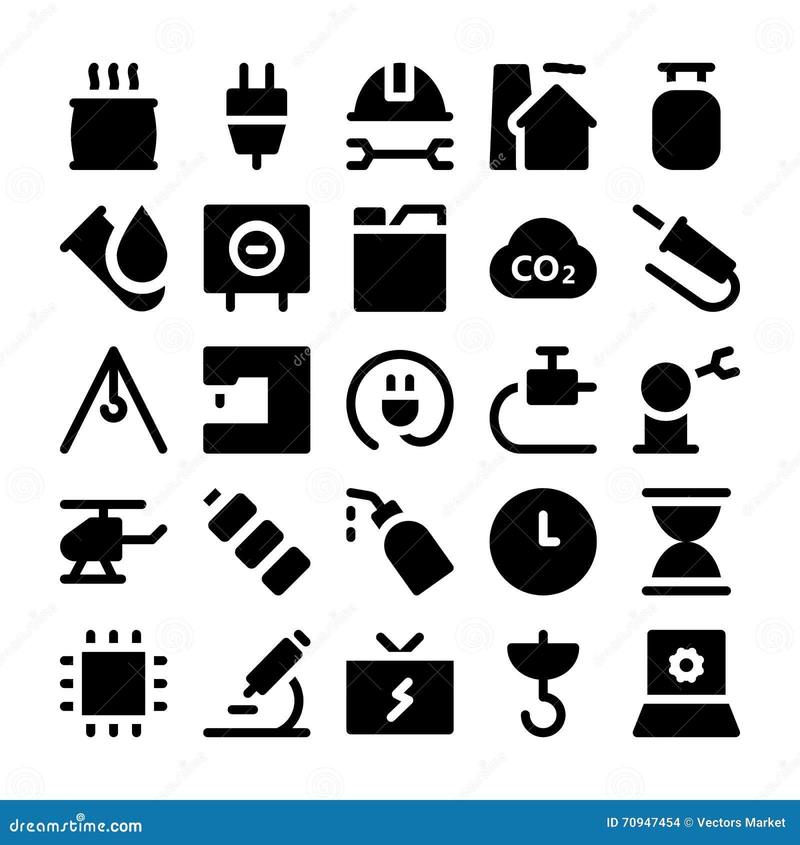 Icônes 7 de vecteur de la livraison de logistique