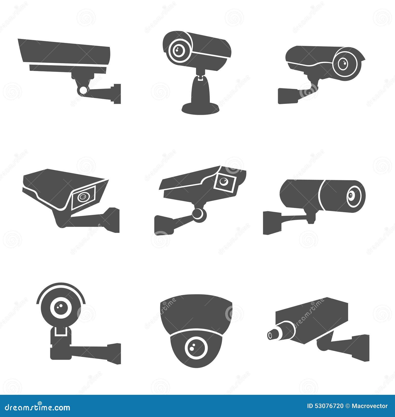 Icônes de vidéo surveillance
