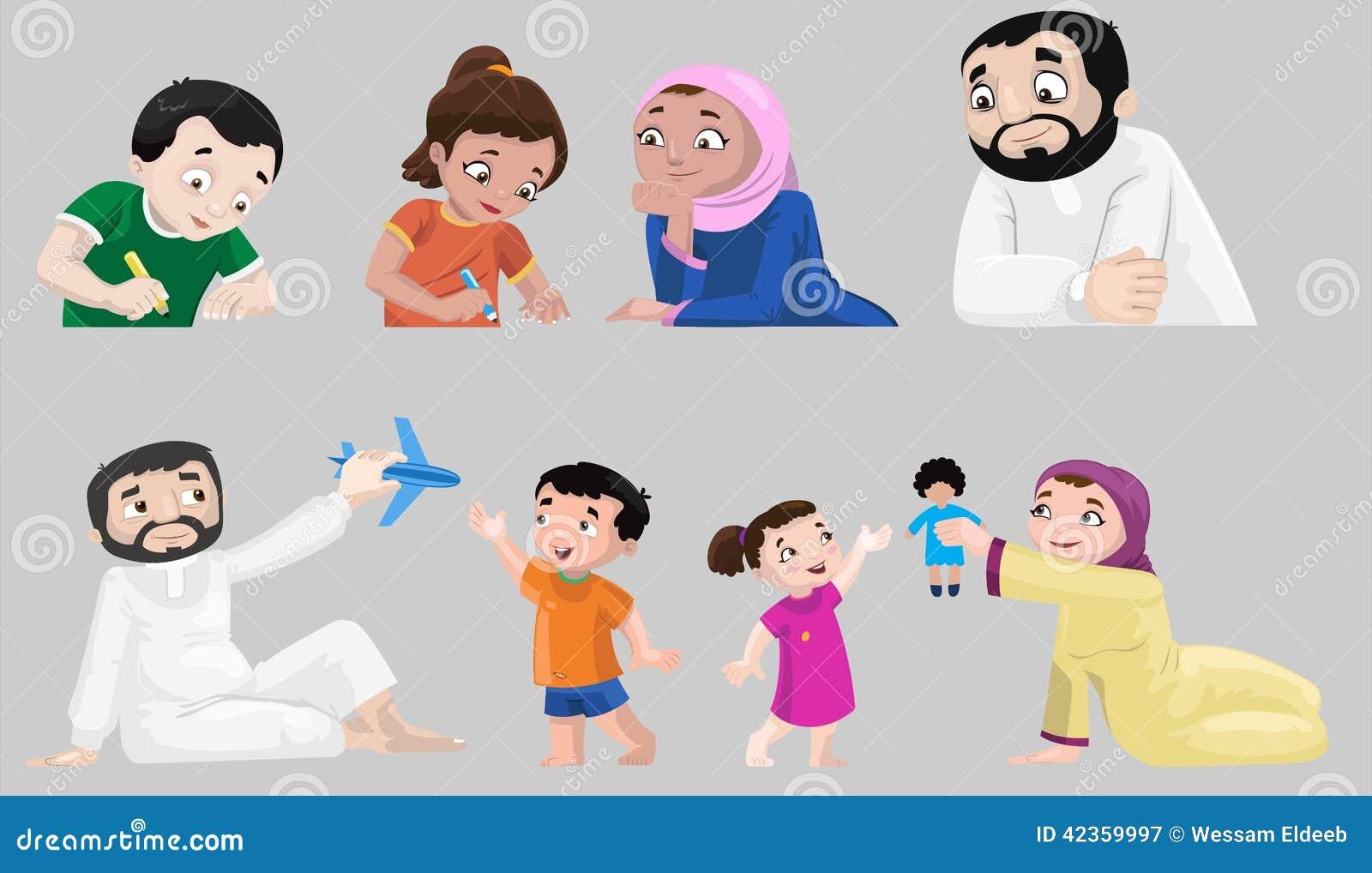 Icônes des caractères Arabes