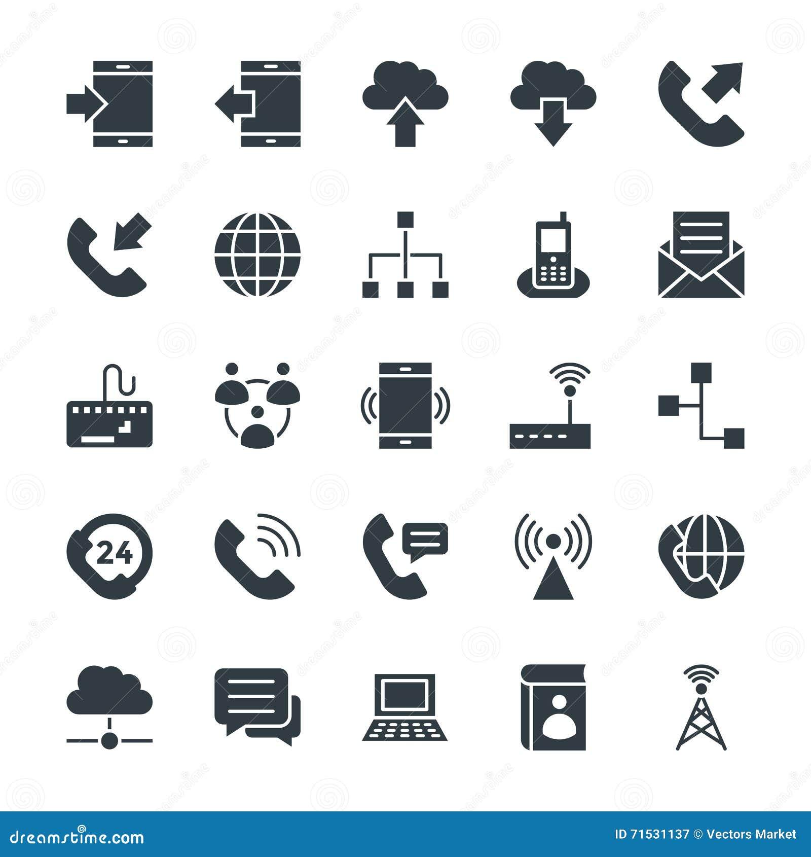 Icônes fraîches 1 de vecteur de communication