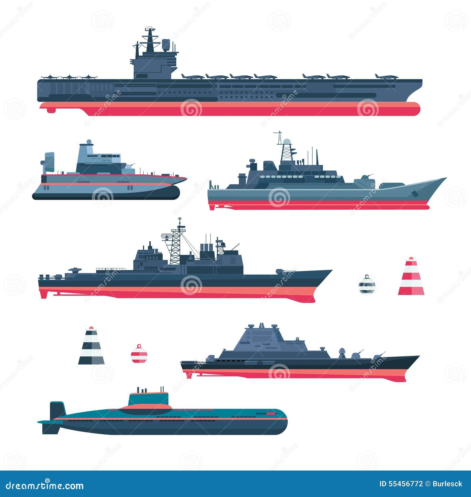Icônes militaristes de bateaux