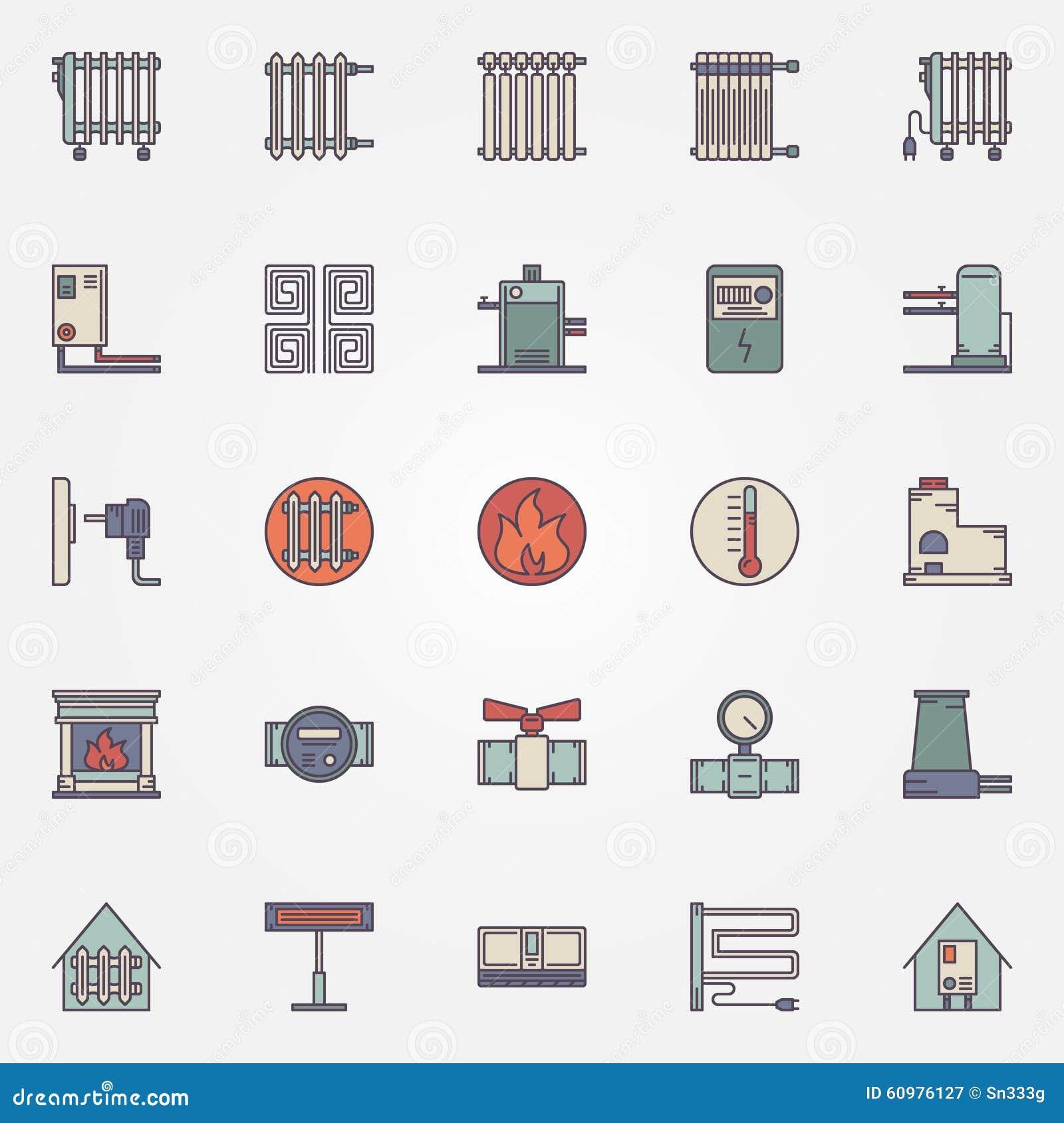 Ic nes plates de chauffage illustration de vecteur image - Symbole radiateur electrique ...