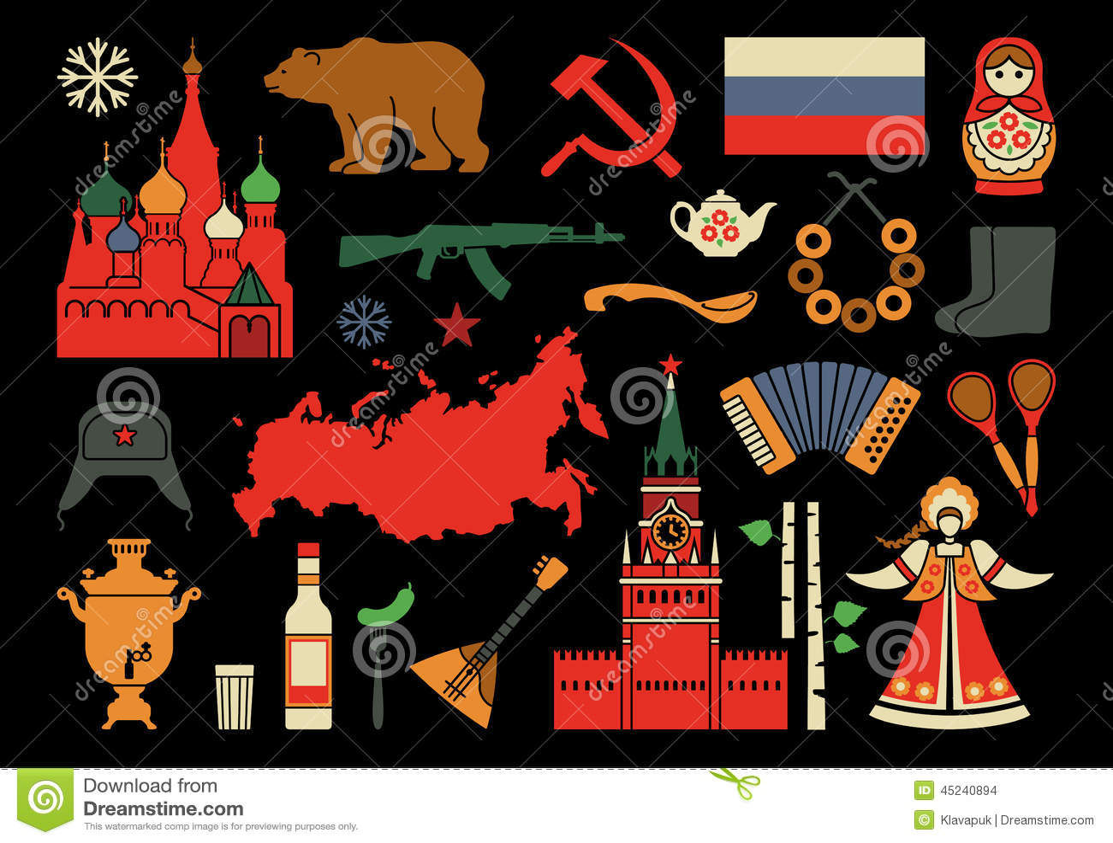 Icônes russes de l'image