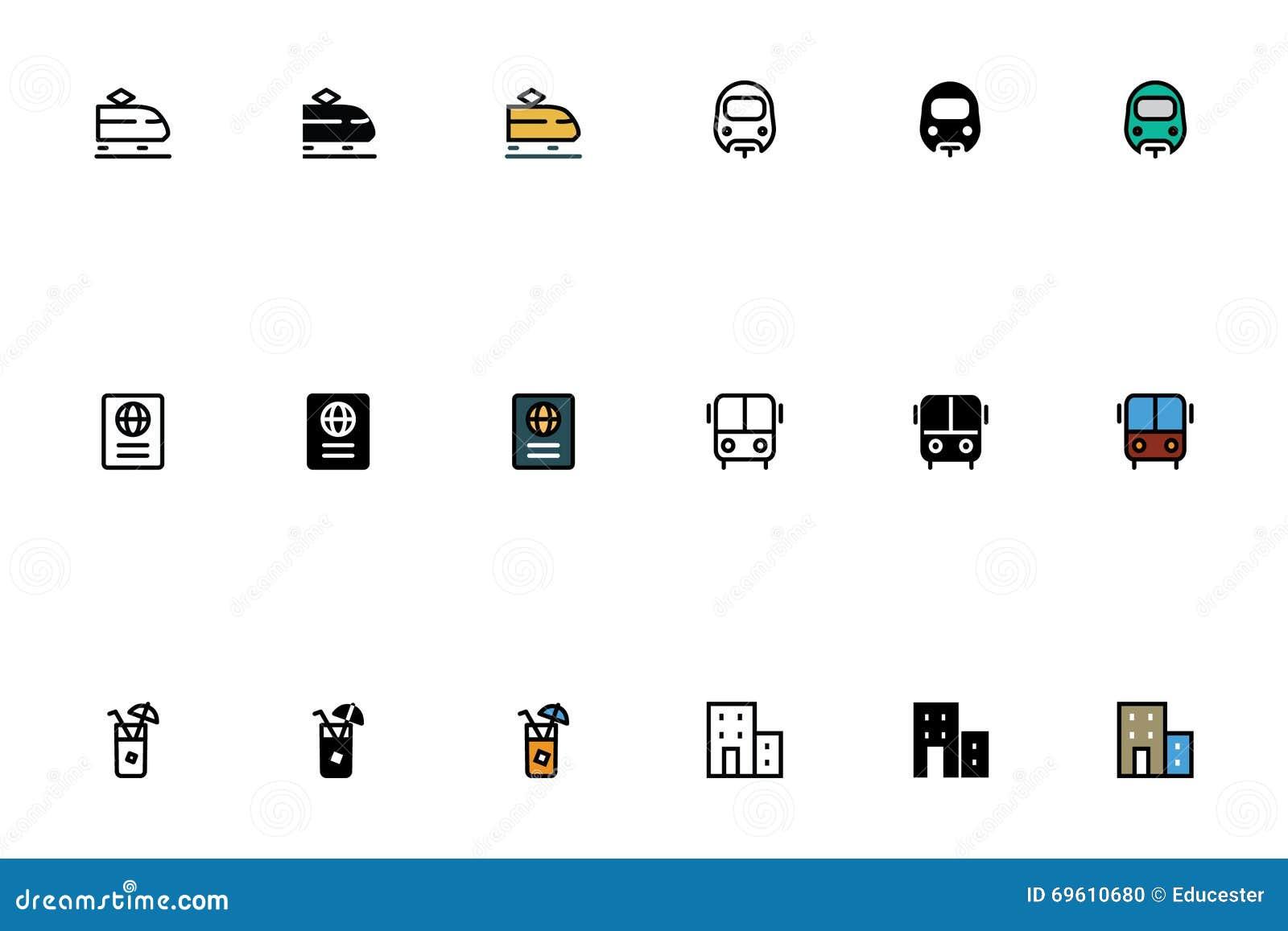 ic nes sensibles 2 de voyage illustration stock image 69610680. Black Bedroom Furniture Sets. Home Design Ideas
