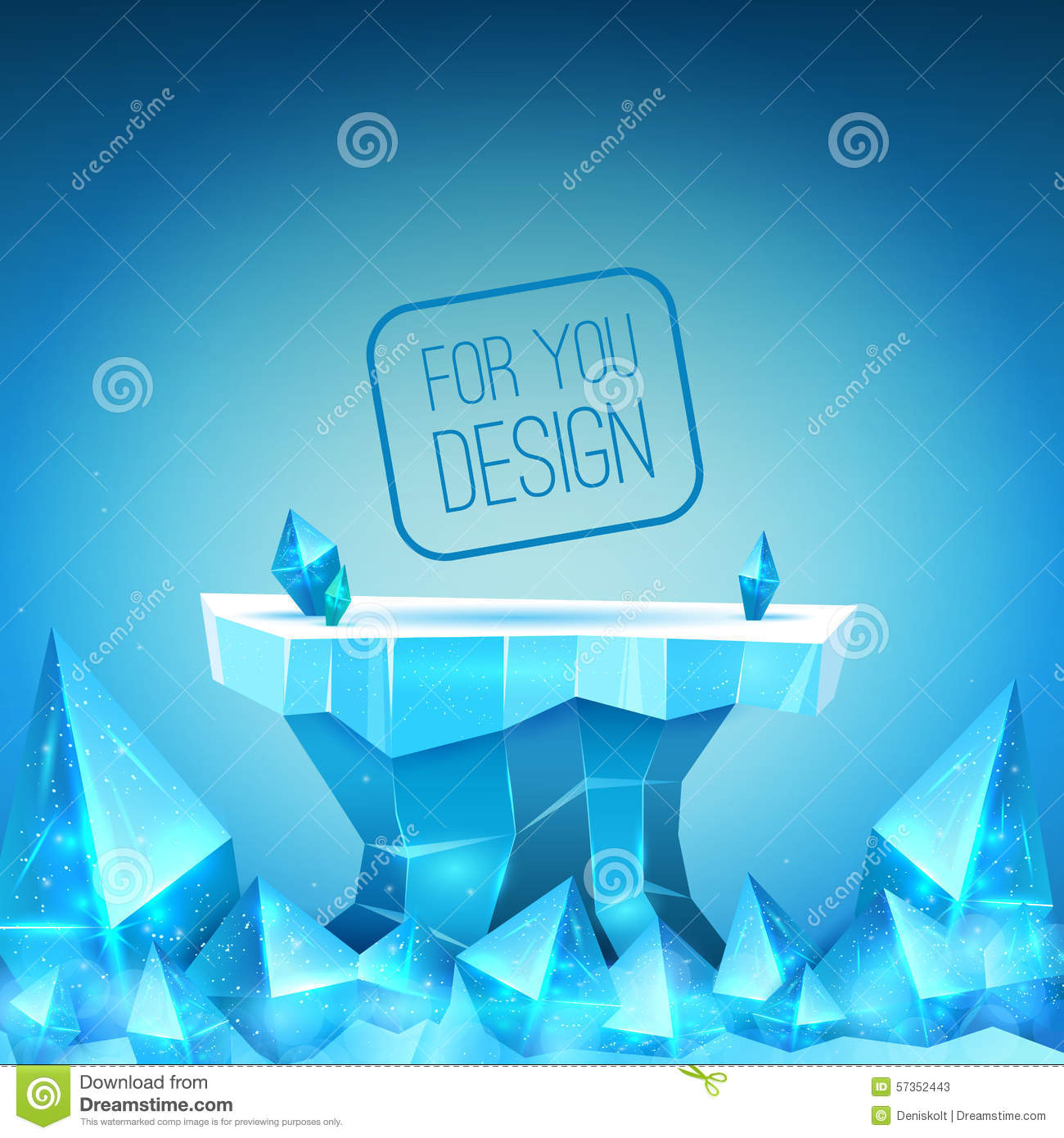 Ice Backdrop Stock Vector Image 57352443