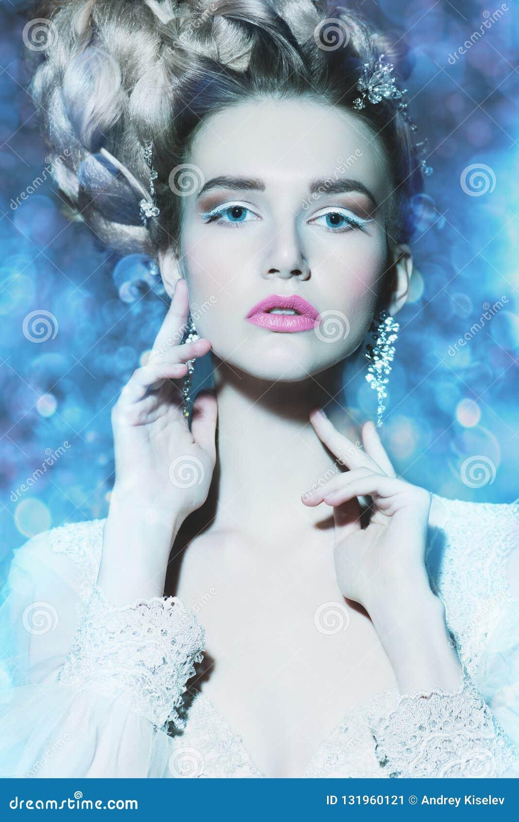 Ice beautiful woman