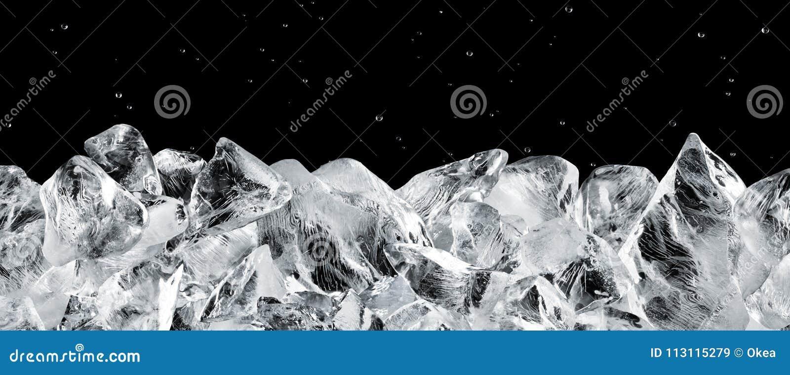 Download Ice blocks stock image. Image of cool, block, black - 113115279