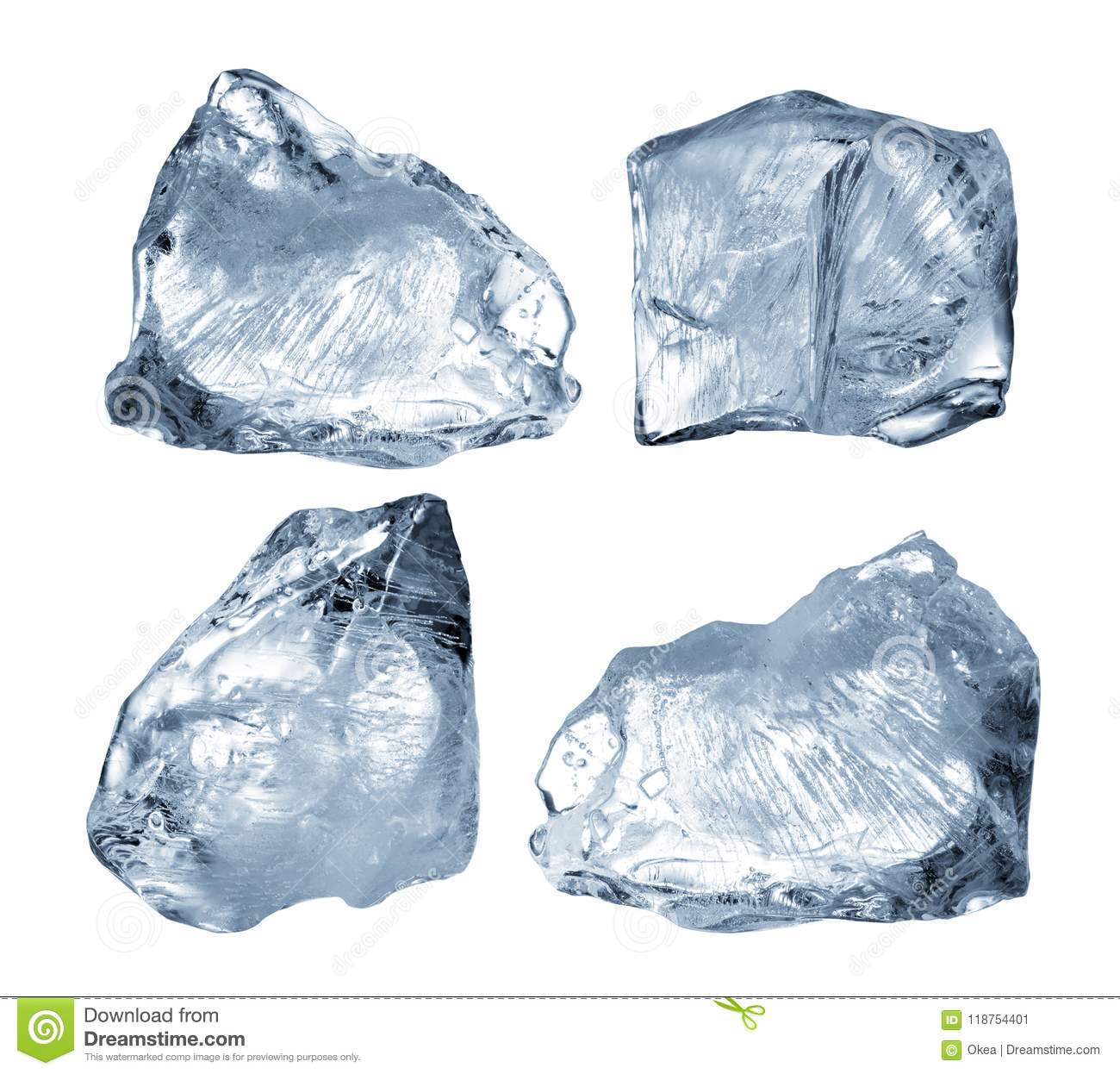 Download Ice blocks stock image. Image of close, cool, collection - 118754401