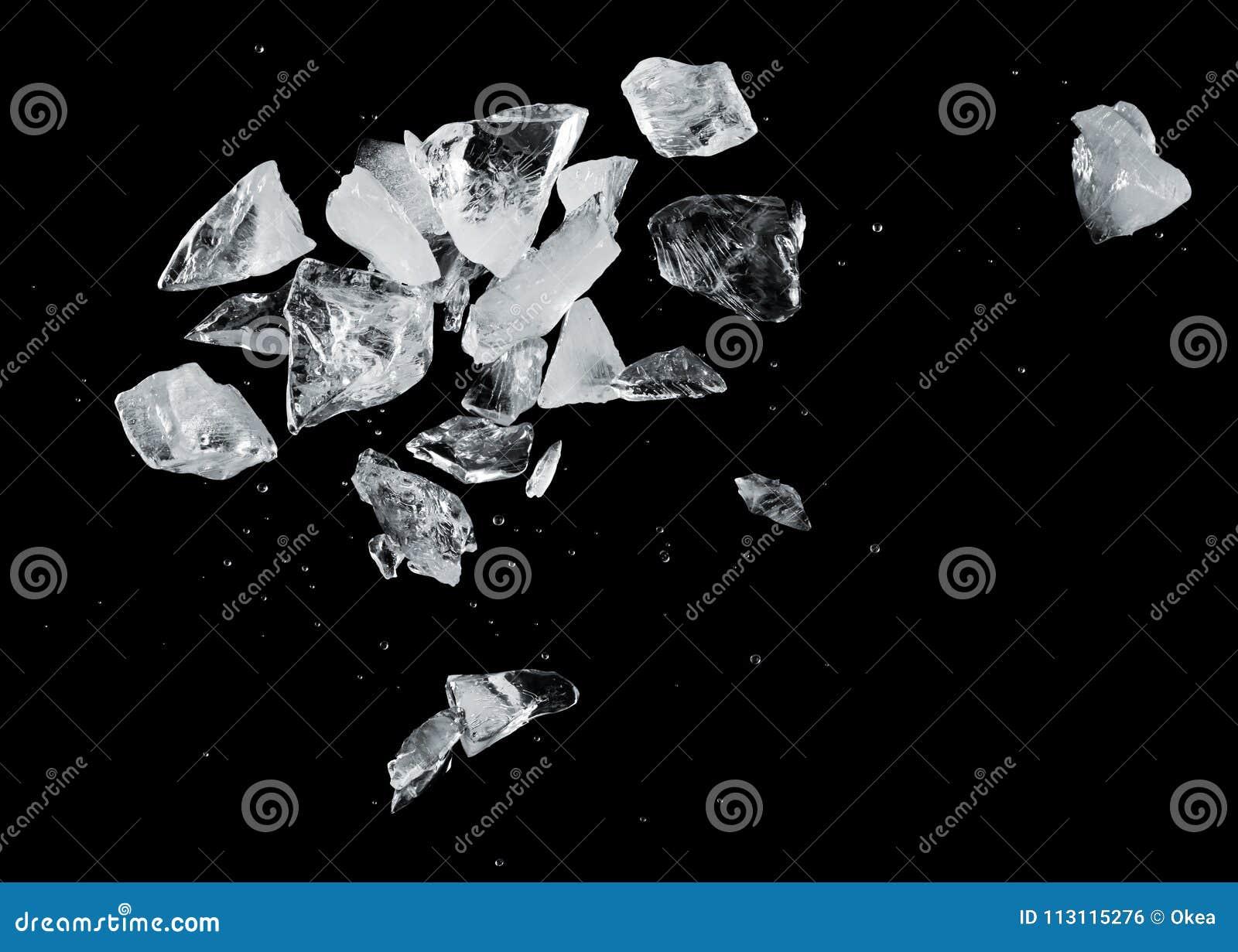Download Ice splash stock photo. Image of black, cube, block - 113115276