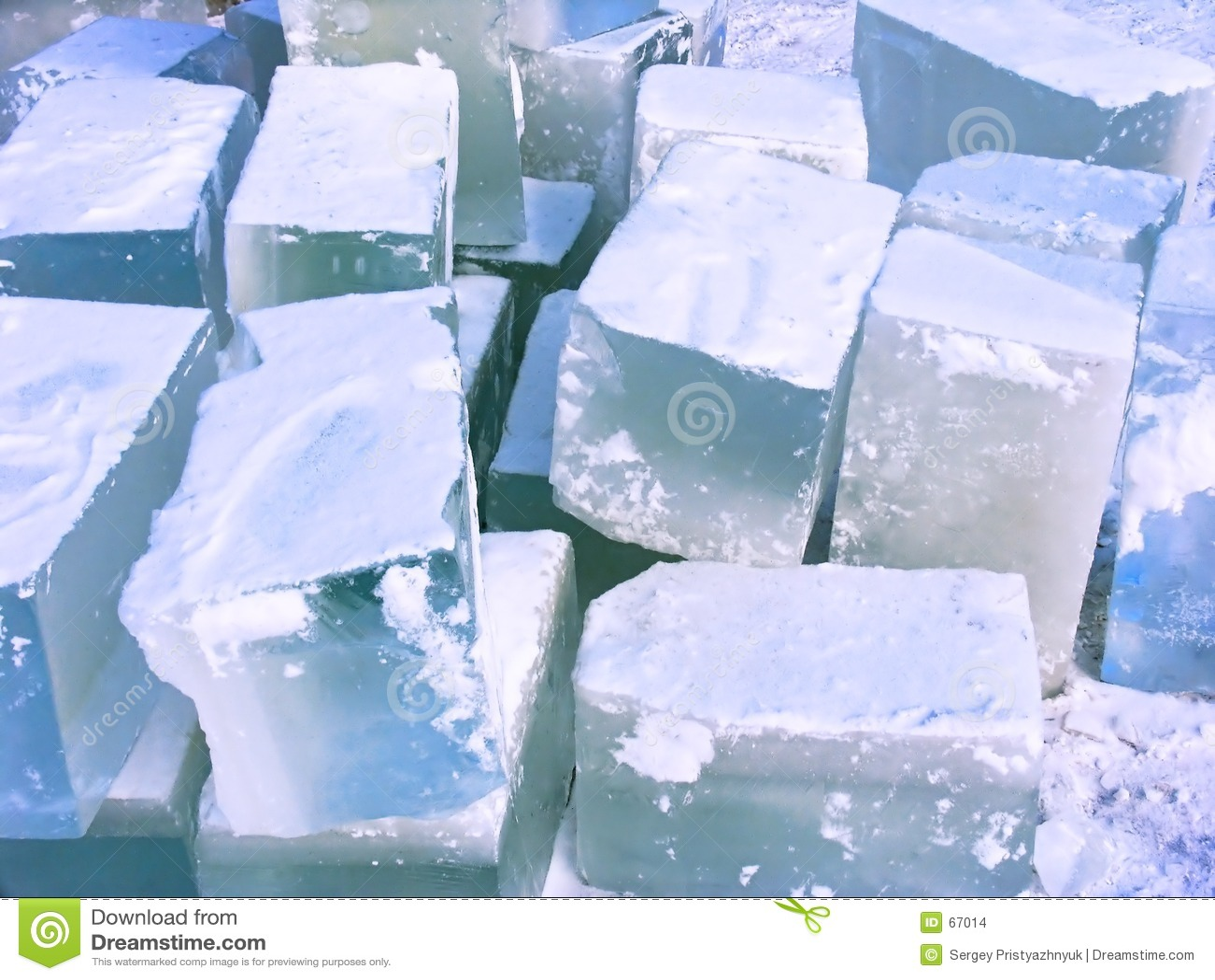 Ice bricks.