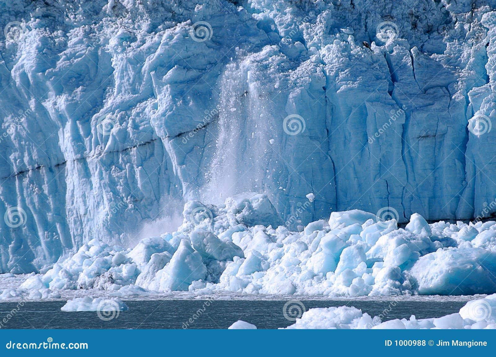 Ice Calving At Glacier Bay