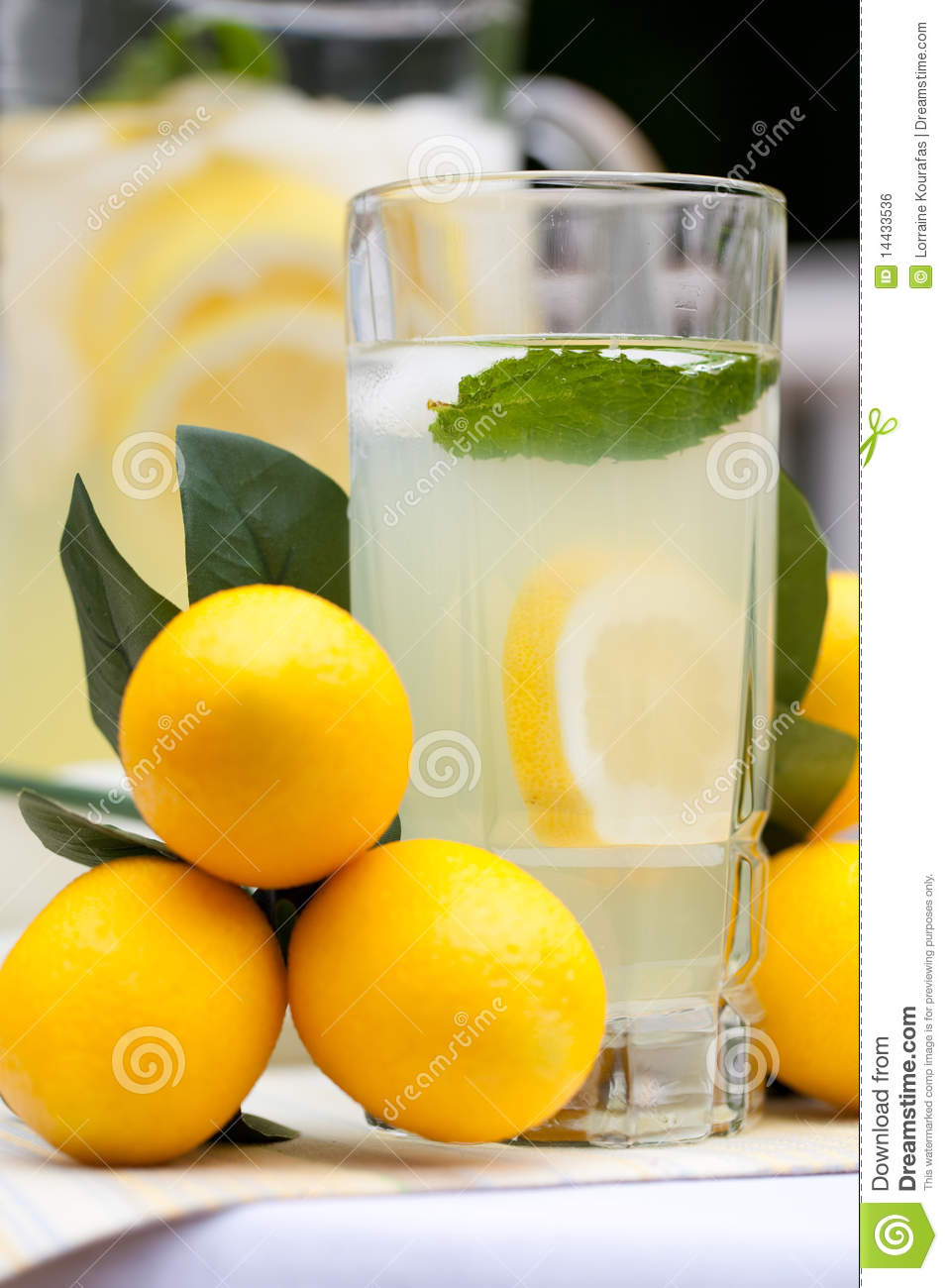 Ice Cold Lemonade With Mint Royalty Free Stock Image ...