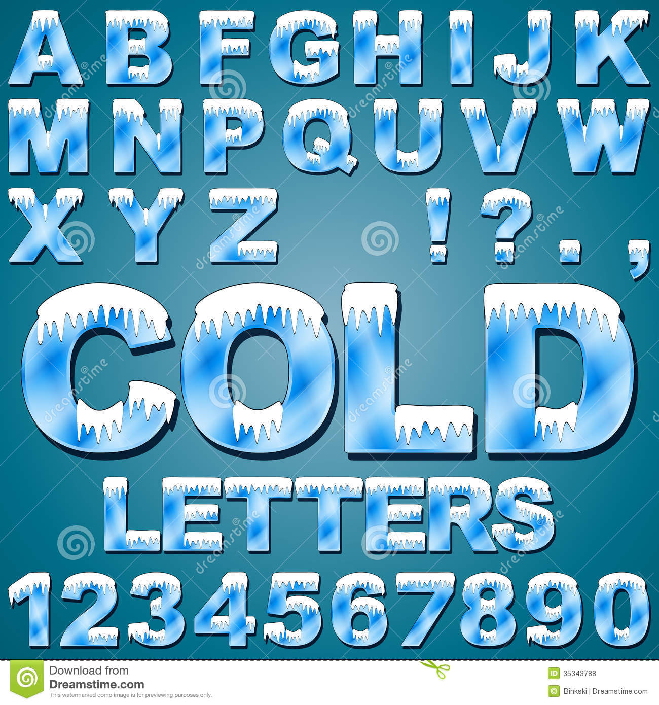 Ice Font Cold Letters Transparent Blue Alphabet Frosty Alphab