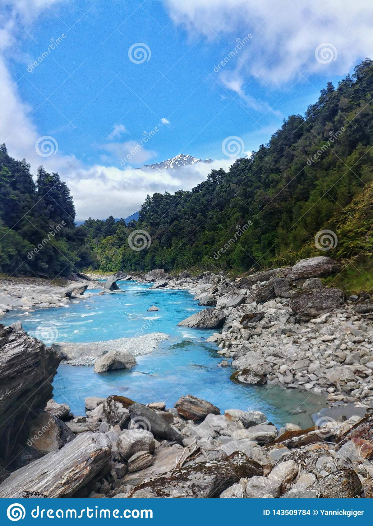 Ice cold river at Copland Track, New Zealand