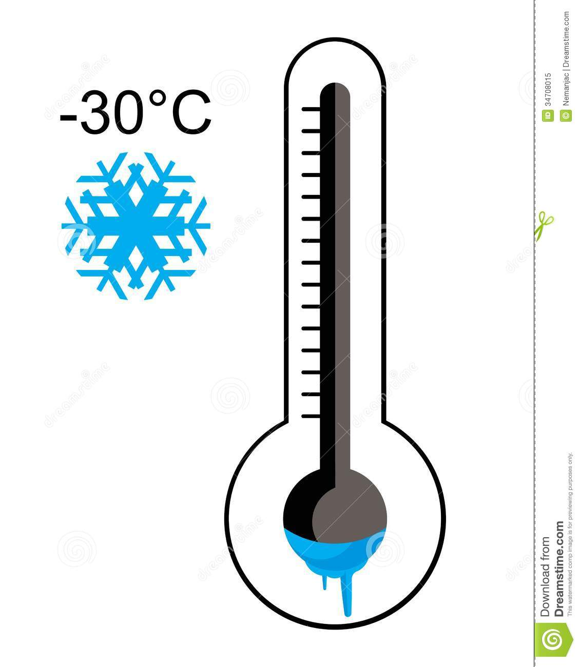 Ice Cold Thermometer Royalty Free Stock Photo - Image: 34708015
