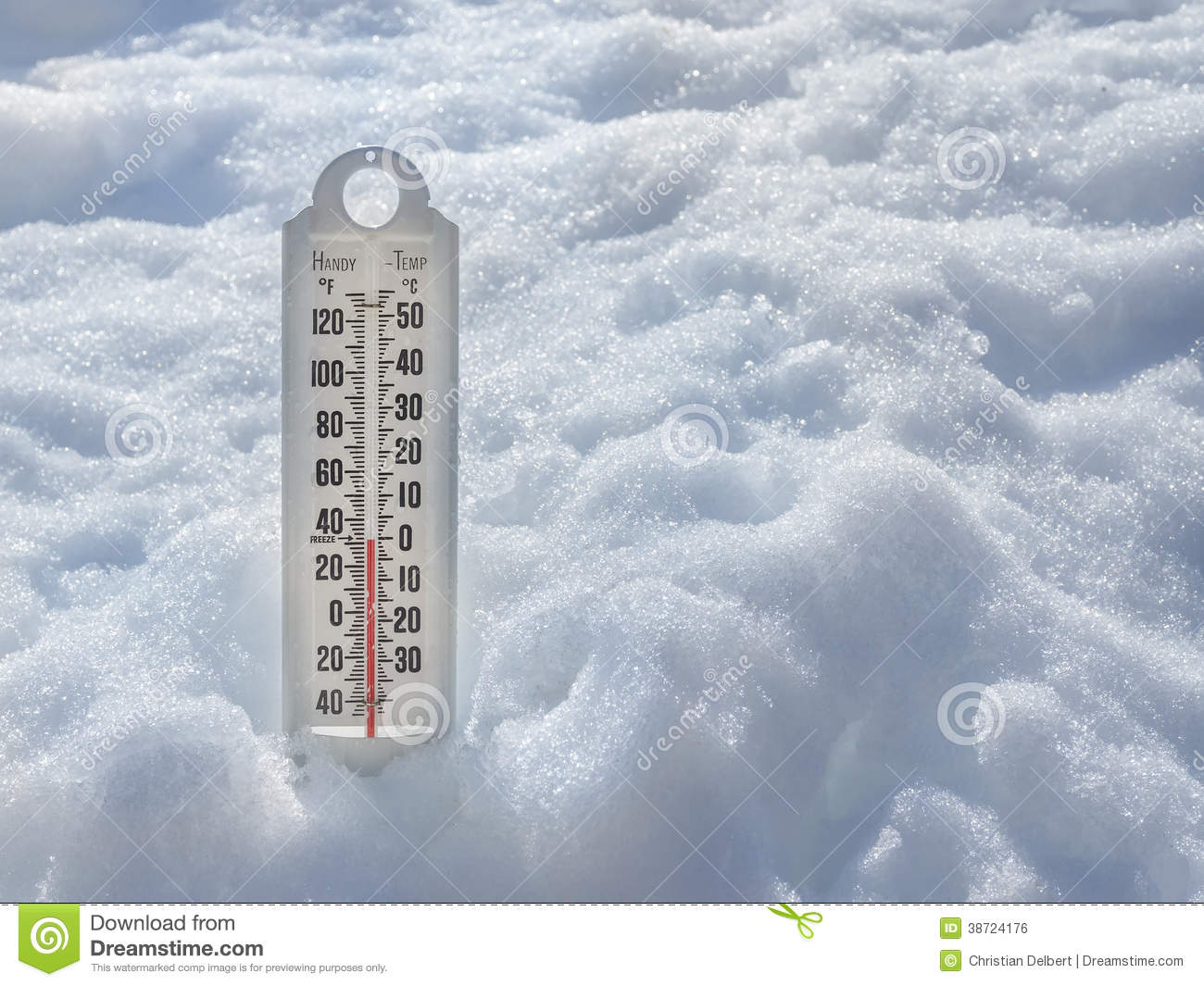 ... Cold Thermometer In Snow Royalty Free Stock Image - Image: 38724176