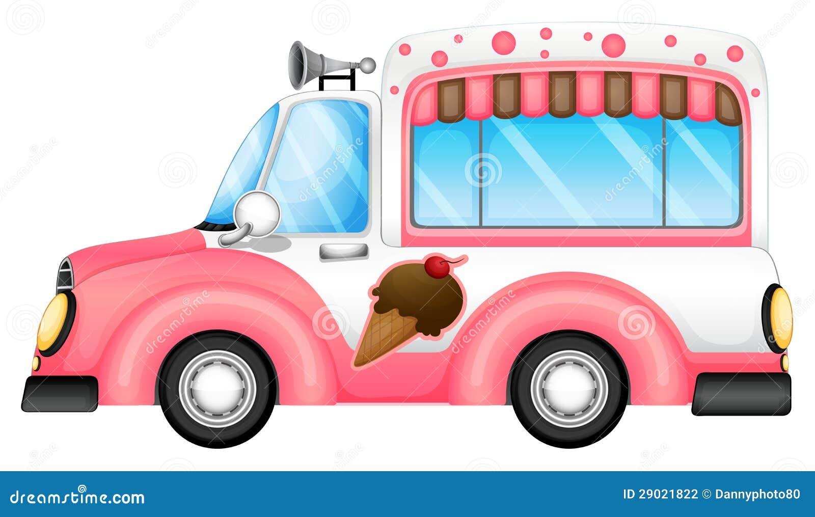 Stock Photography Ice Cream Car Image29021822 on Cartoon Moving Van Clip Art