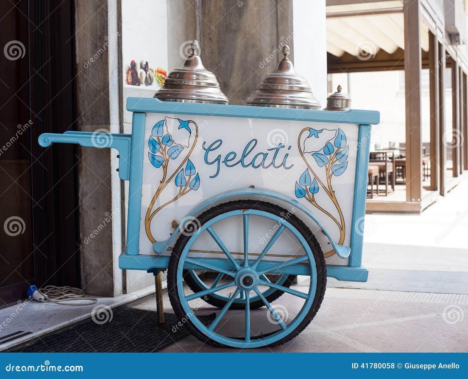 Vintage Ice Cream Cart 22