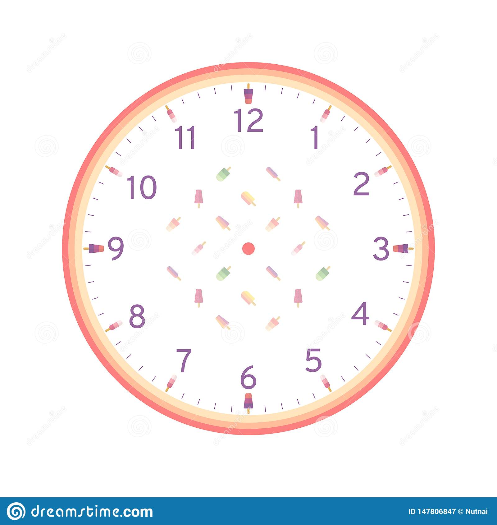 It's just a picture of Printable Clock Template pertaining to blank