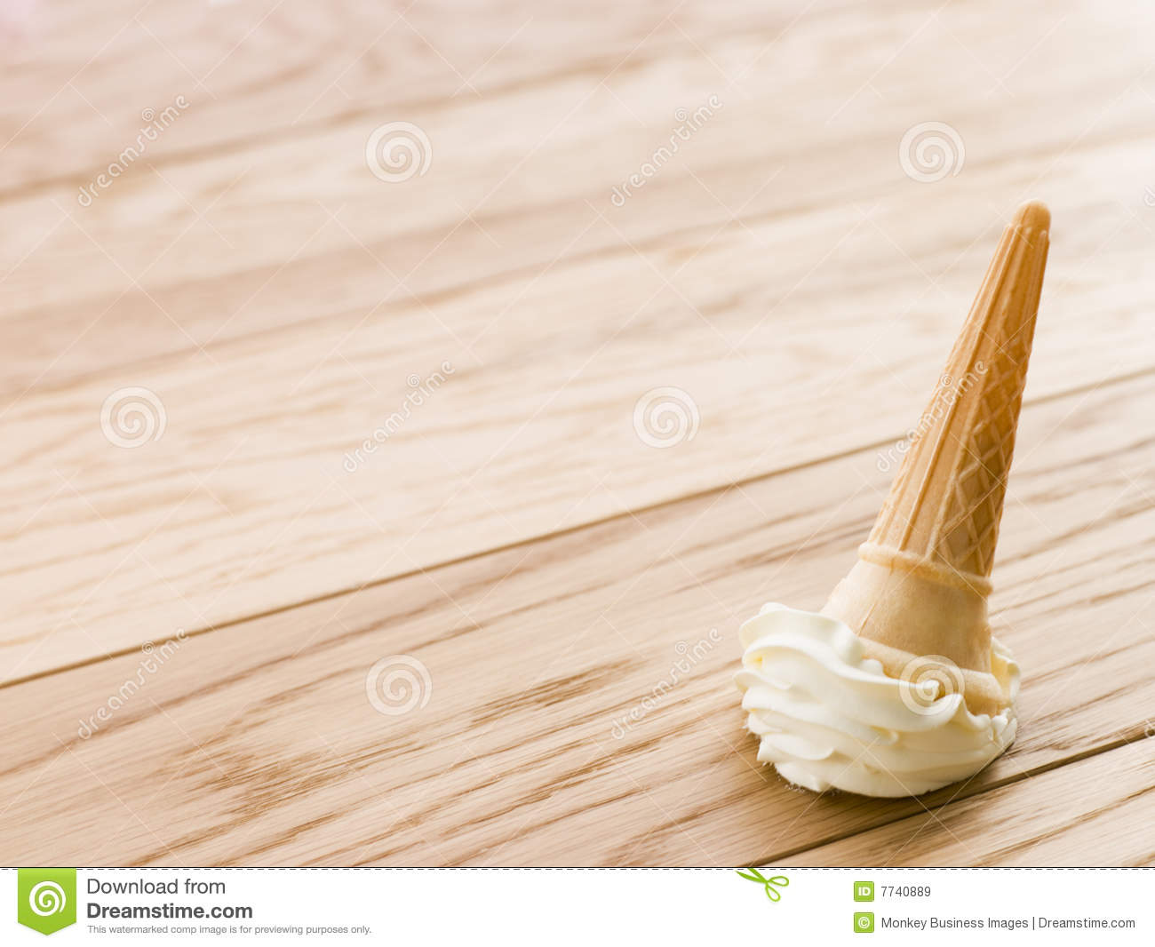 Ice Cream Cone Dropped On The Floor Stock Image Image