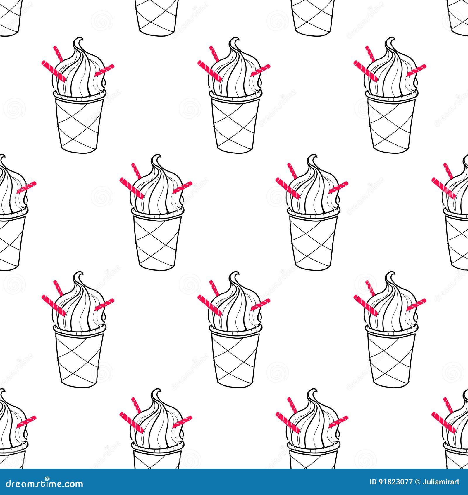 Ice Cream Easy Pattern Linear-06