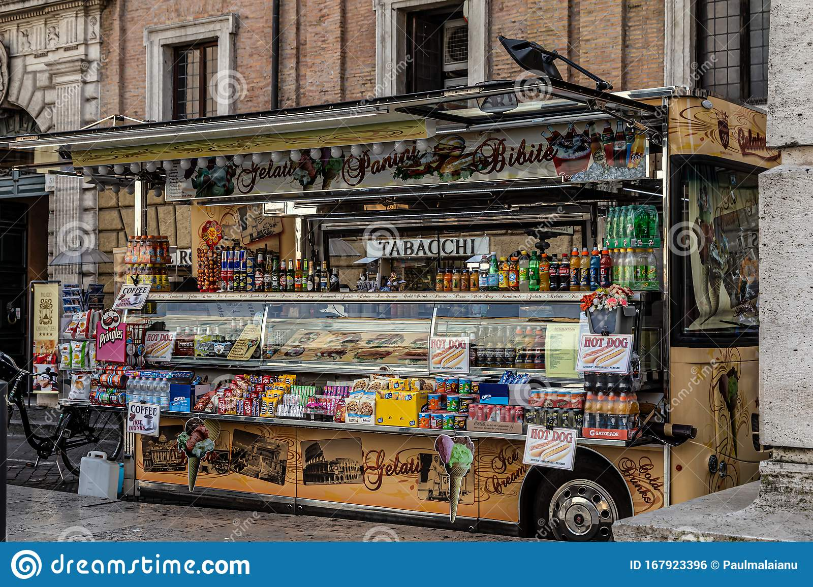 Ice Cream Fast Food And Sweets Truck In Rome Italy Editorial Photo Image Of Exterior Drive 167923396