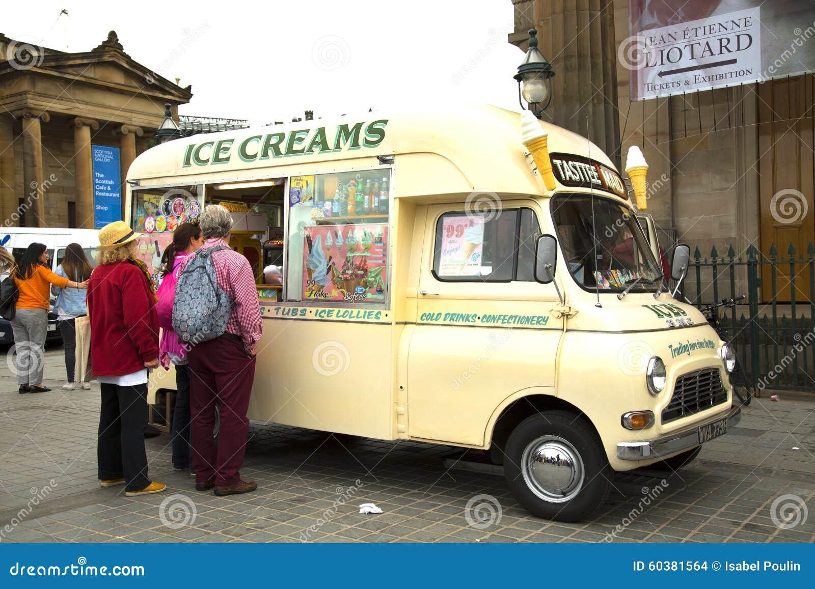 Ice cream food truck editorial stock image  Image of street