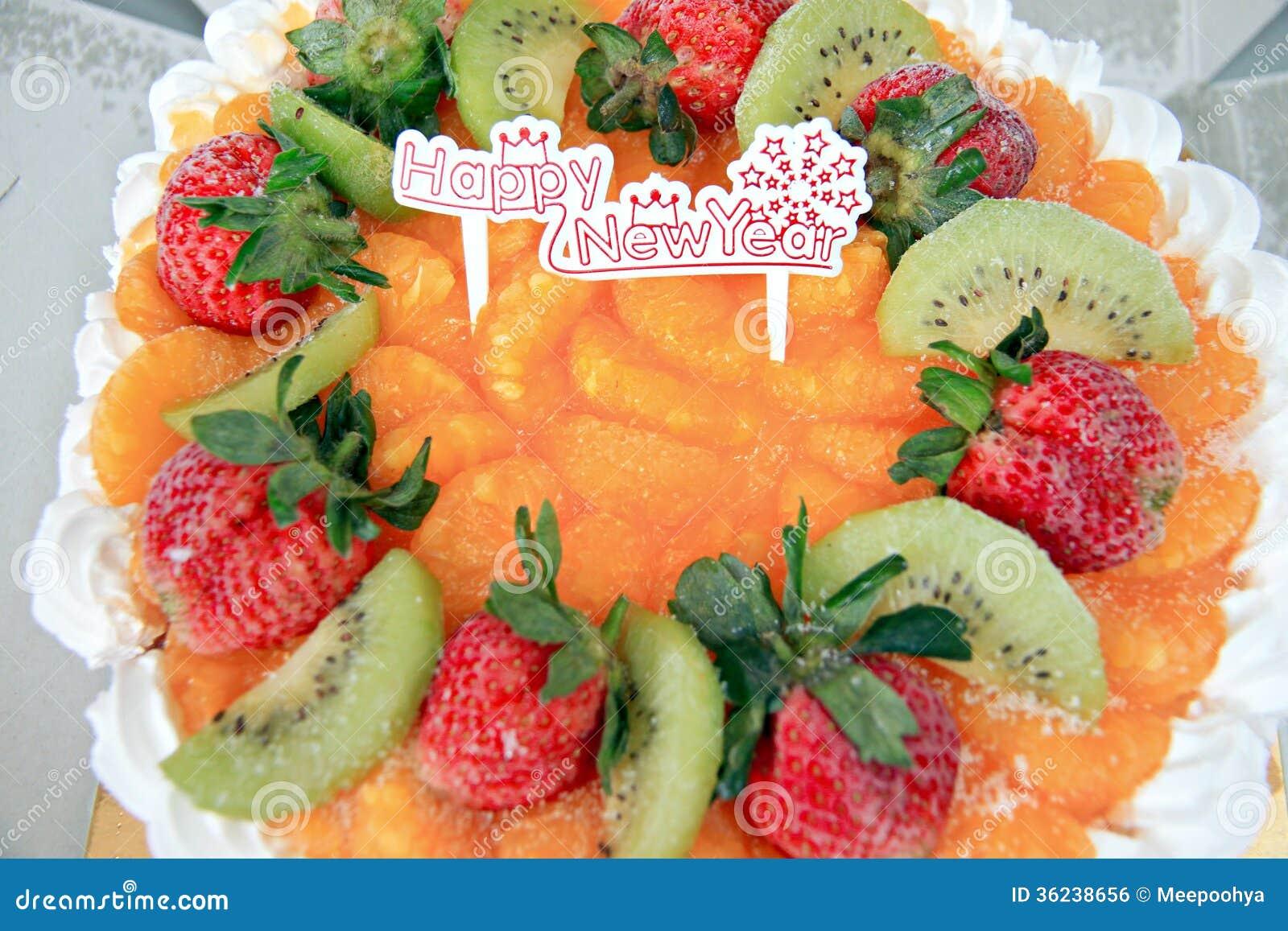 Ice Cream Fruit Cake. Royalty Free Stock Image - Image: 36238656