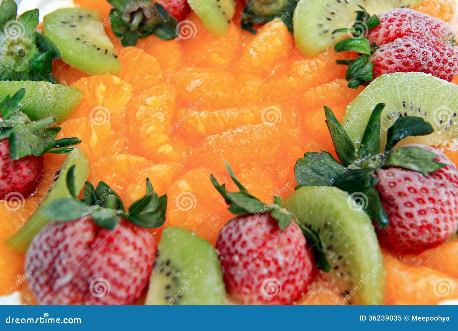 Ice Cream Fruit Cake. Royalty Free Stock Photo - Image: 36239035