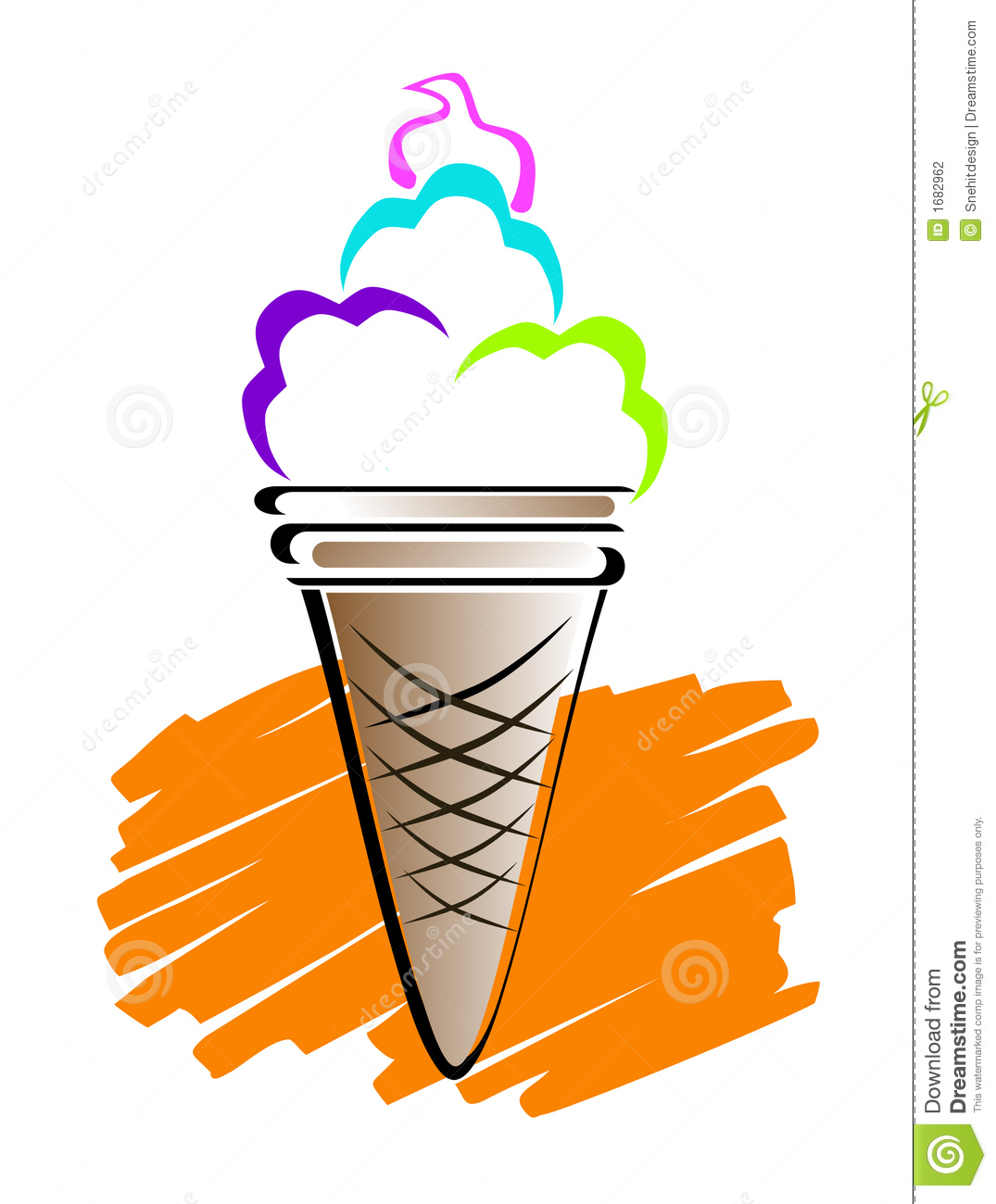 Line Art Ice Cream : Ice cream art royalty free cartoon cartoondealer