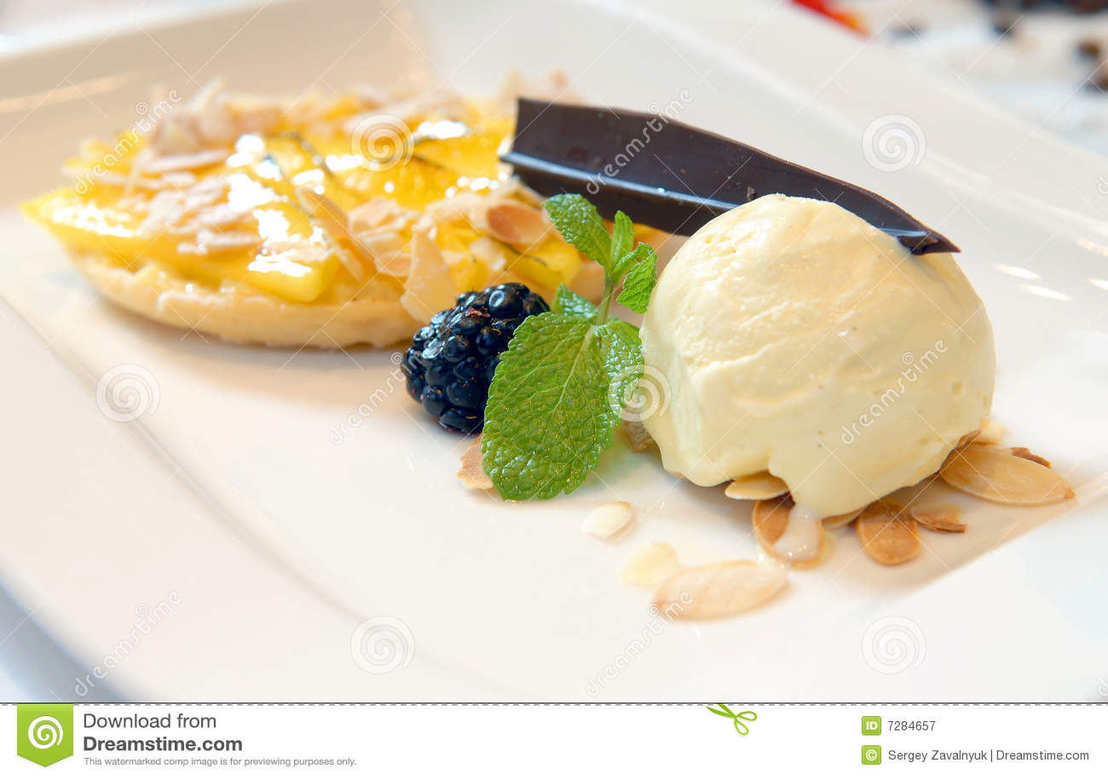 Ice-cream From A Mango Tart Royalty Free Stock Photography ...