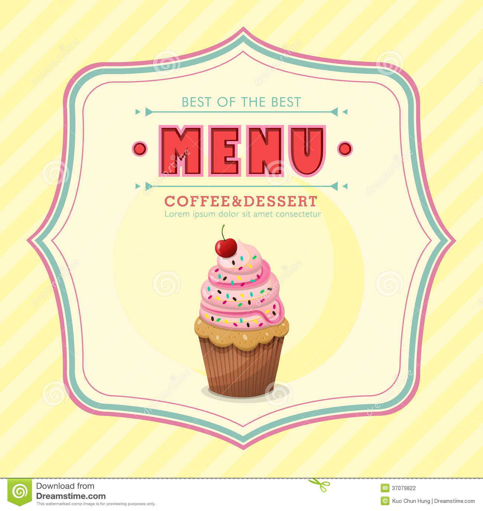 Ice cream menu cover stock vector. Illustration of creative - 37079822