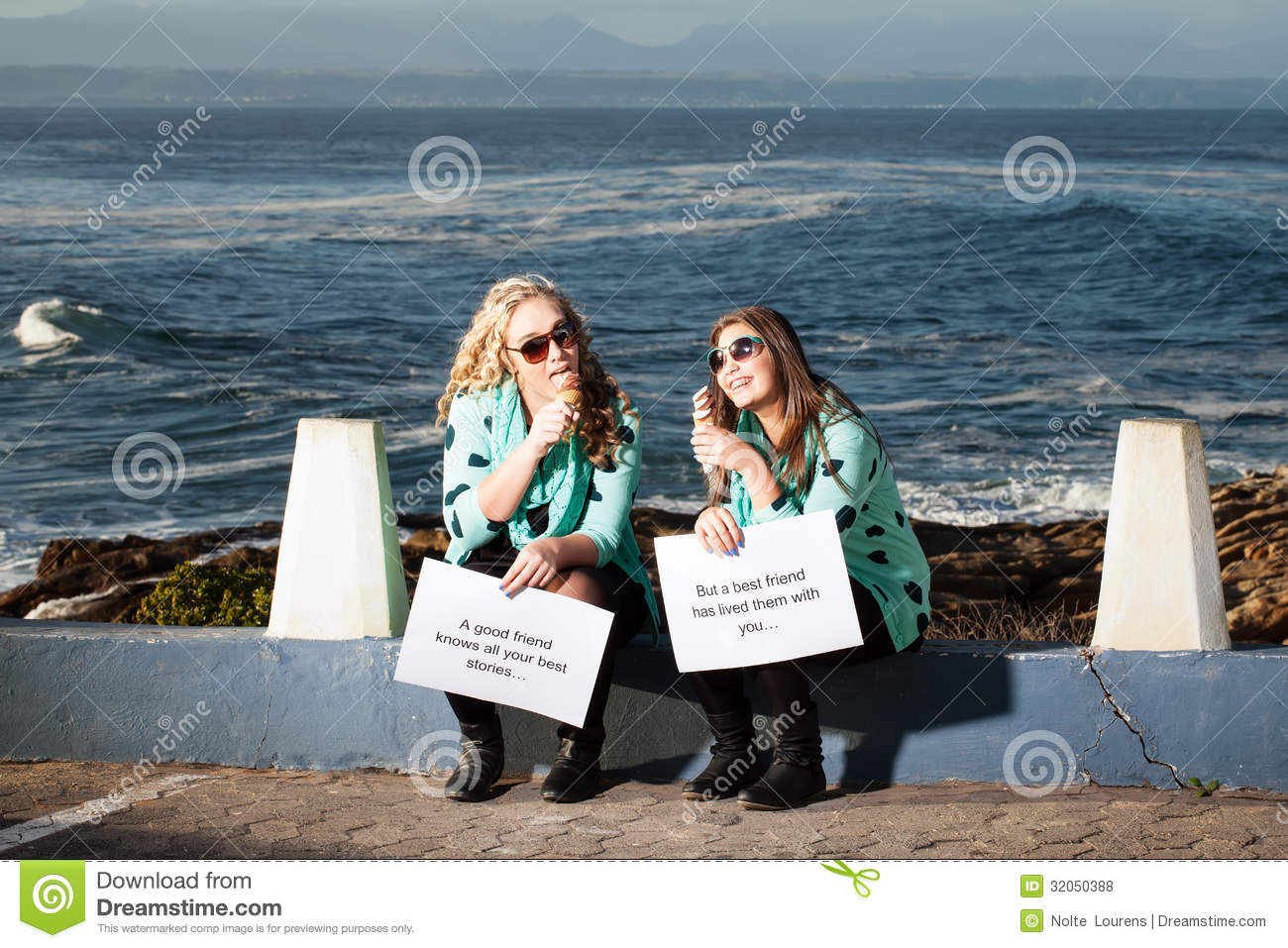 Ice Cream And Ocean Stock Photo Image Of Happy Joyful 32050388