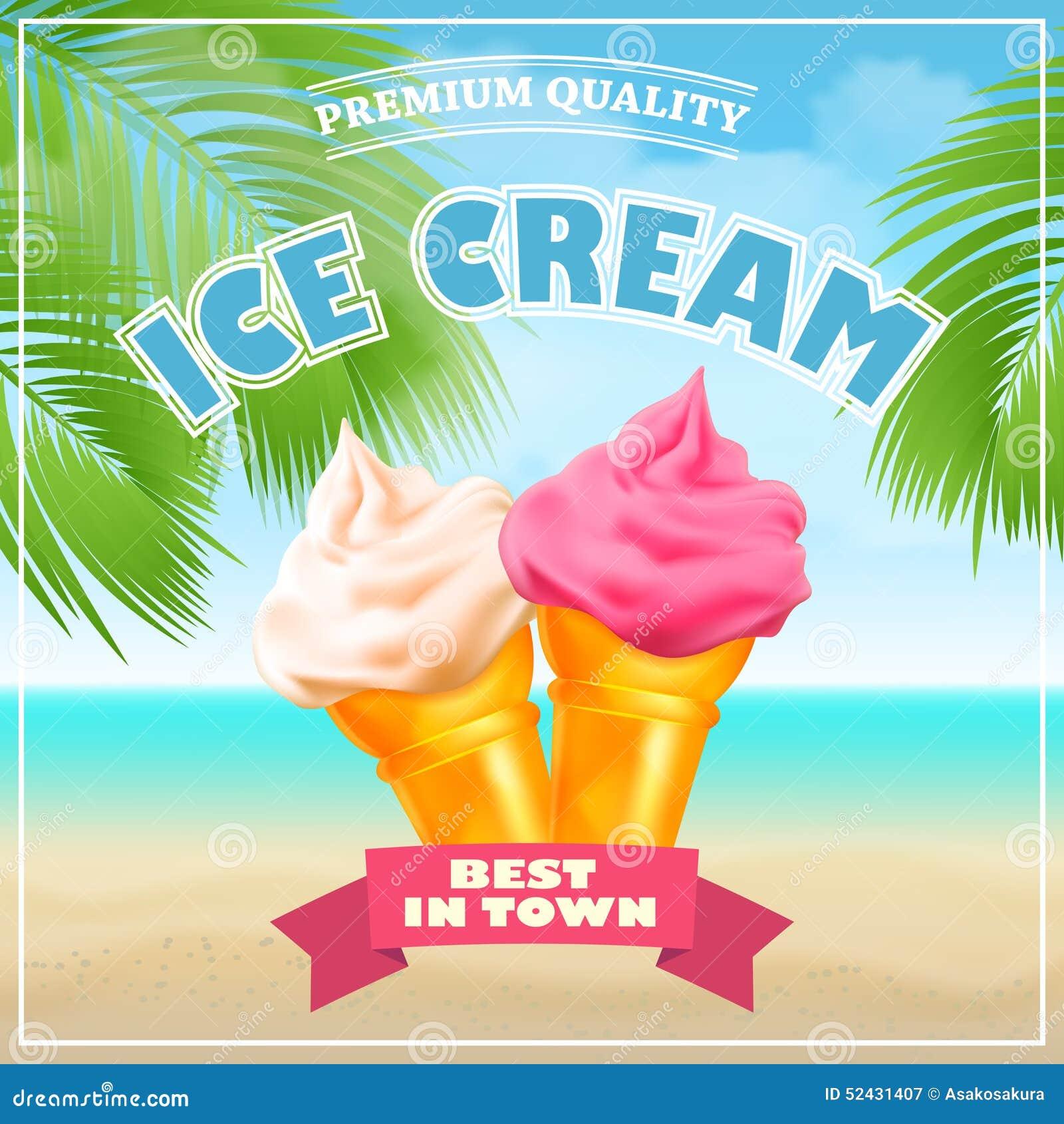 Ice Cream Poster Stock Image - Image: 31564511