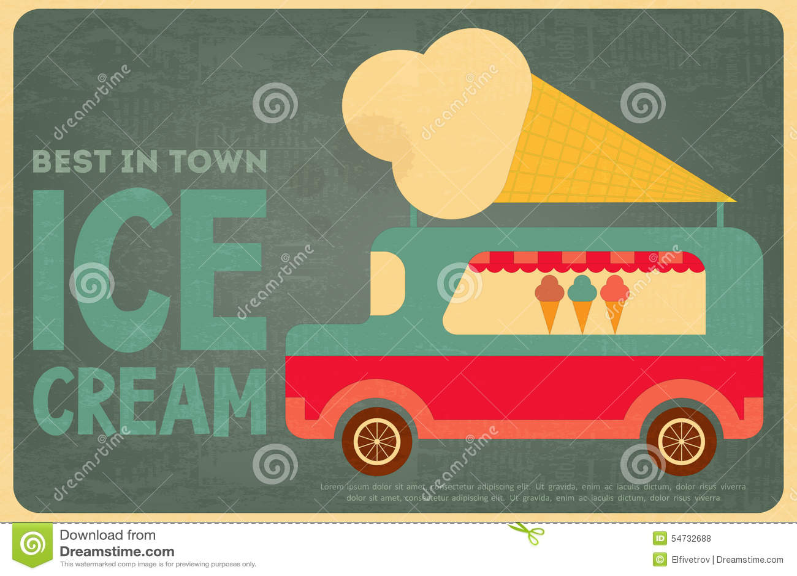 Design poster ice cream - Ice Cream Posters