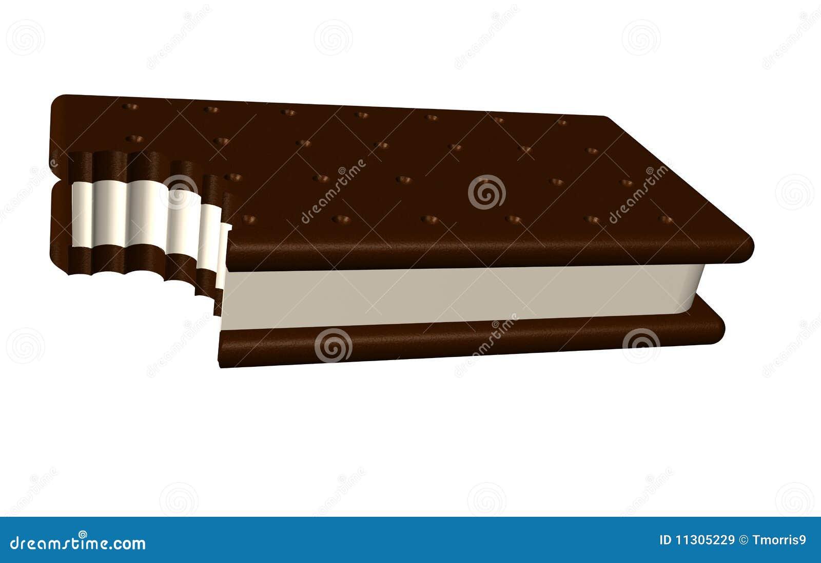 Ice Cream Sandwich Furniture For Ice Cream Sandwich Bit Stock Illustration Illustration Of Milk
