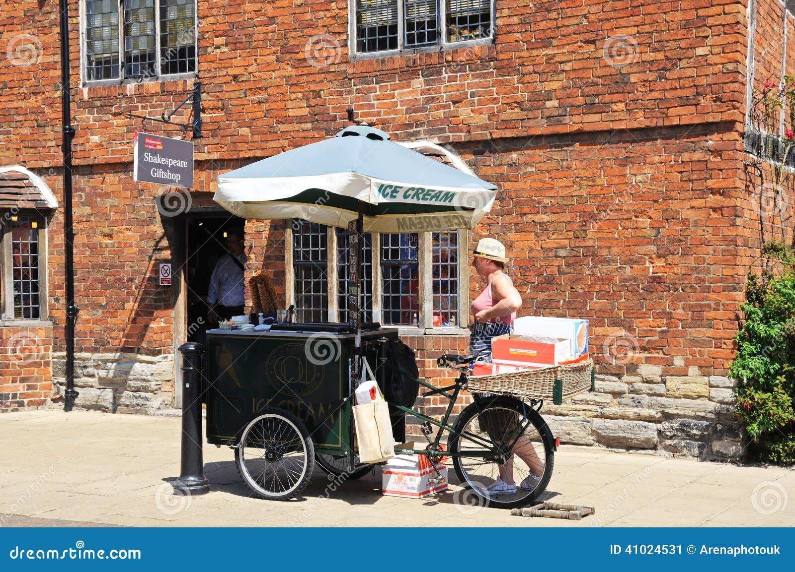Ice Cream seller, Stratford-upon-Avon.
