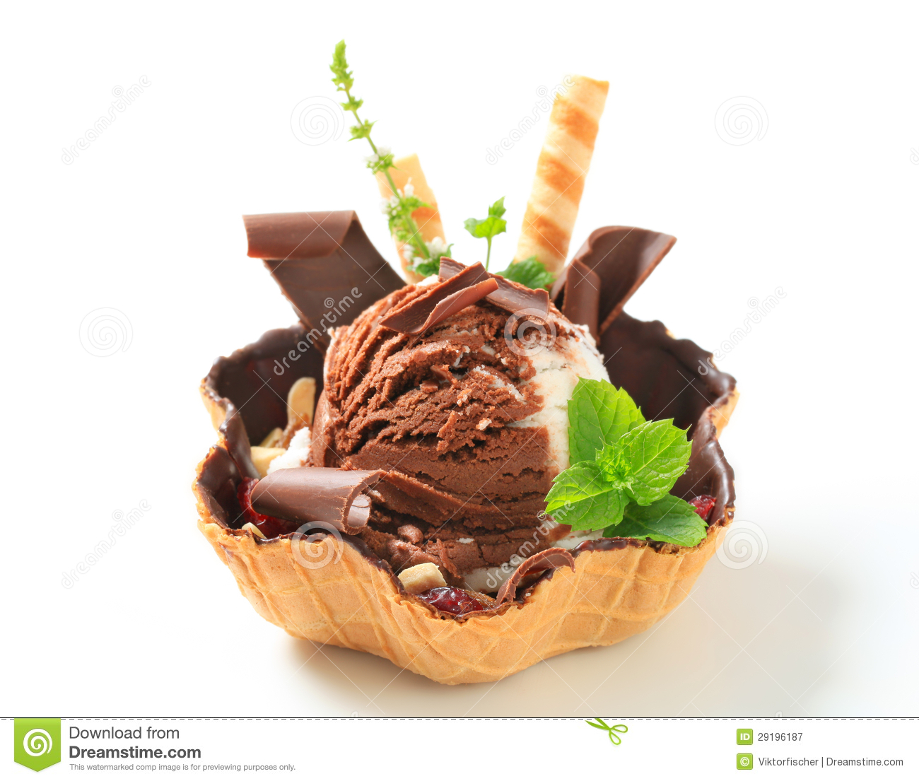 Ice cream sundae stock image. Image of sundae, cream ...