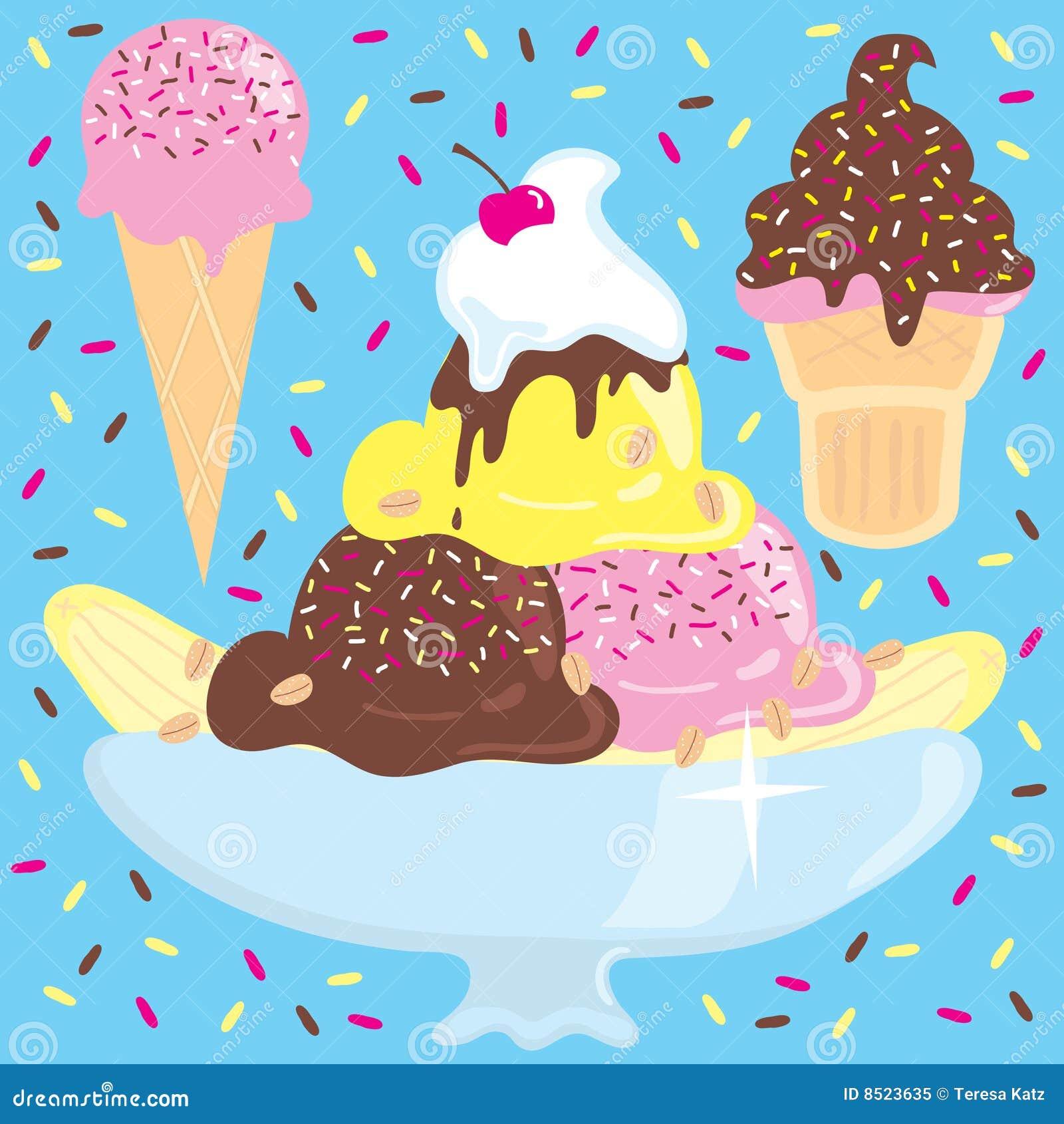Clip Art Ice Cream Sundae Clip Art sundae stock illustrations 3087 ice cream with cones royalty free photo