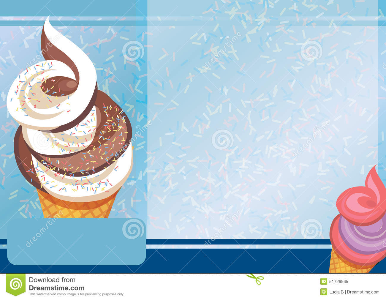 ice cream a4 template stock vector illustration of brown 51726965
