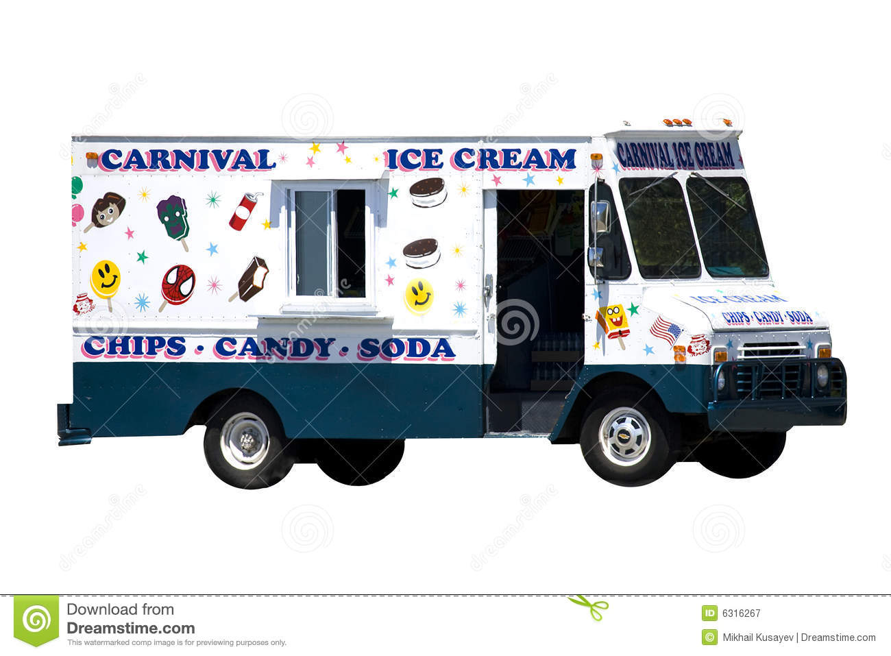 Ice Cream Car Royalty Free Stock Image - Image: 6031986